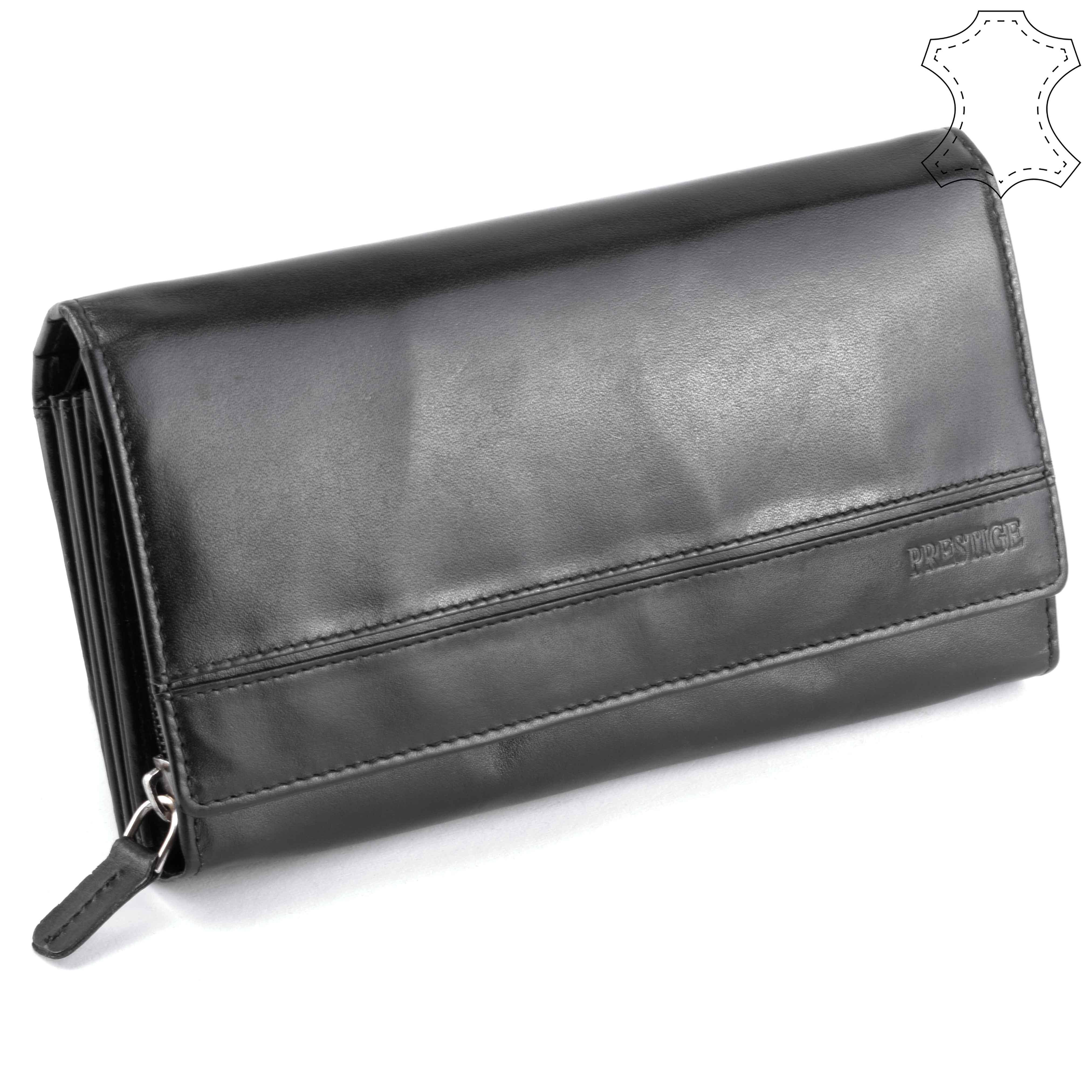 Prestige női fekete bőr pénztárca - Prestige - Táska webáruház - Minőségi  táskák mindenkinek bcf8e71e4b