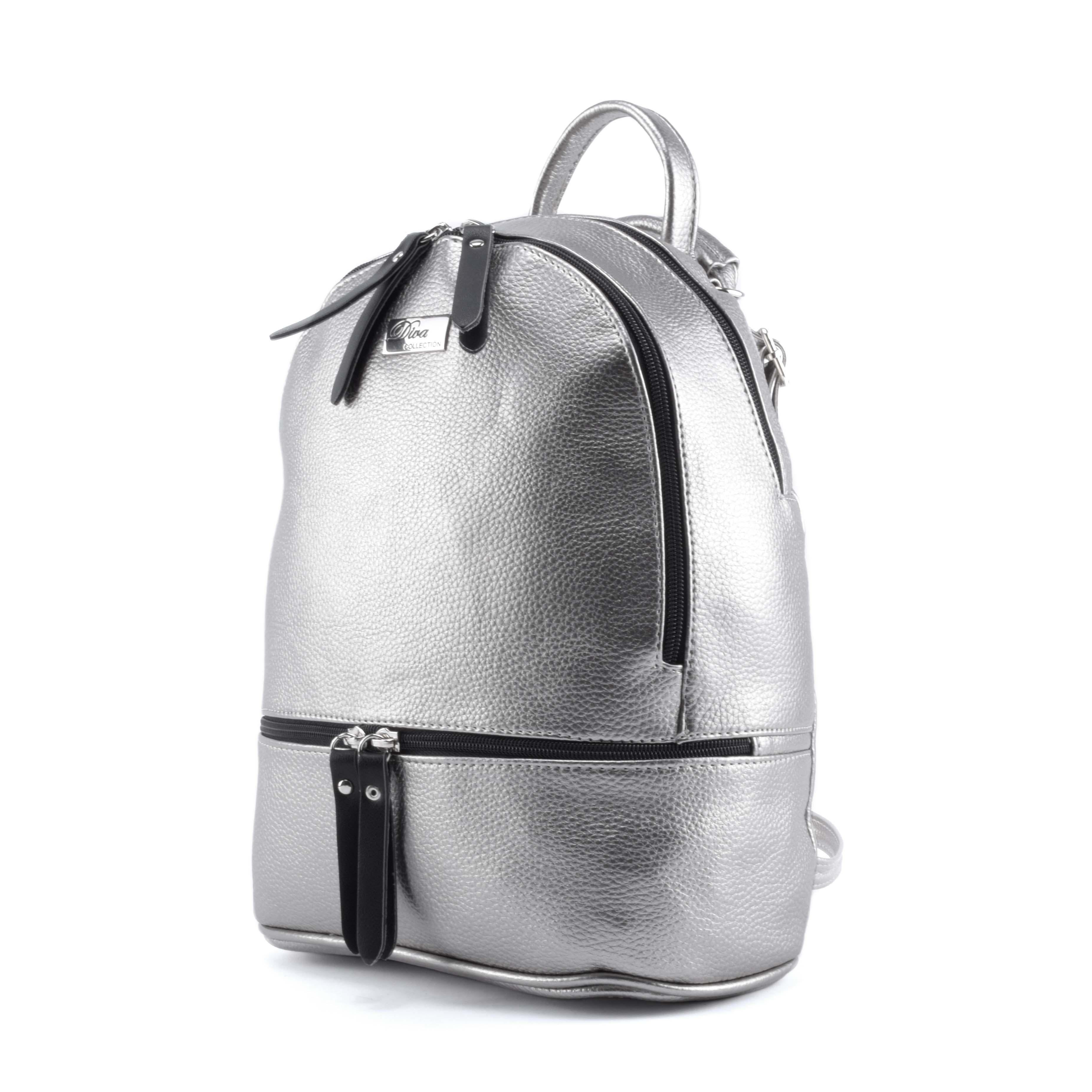 Diva Női Rostbőr sötétezüst Rostbőr Hátizsák - Műbőr - Táska webáruház -  Minőségi táskák mindenkinek 6ded275569