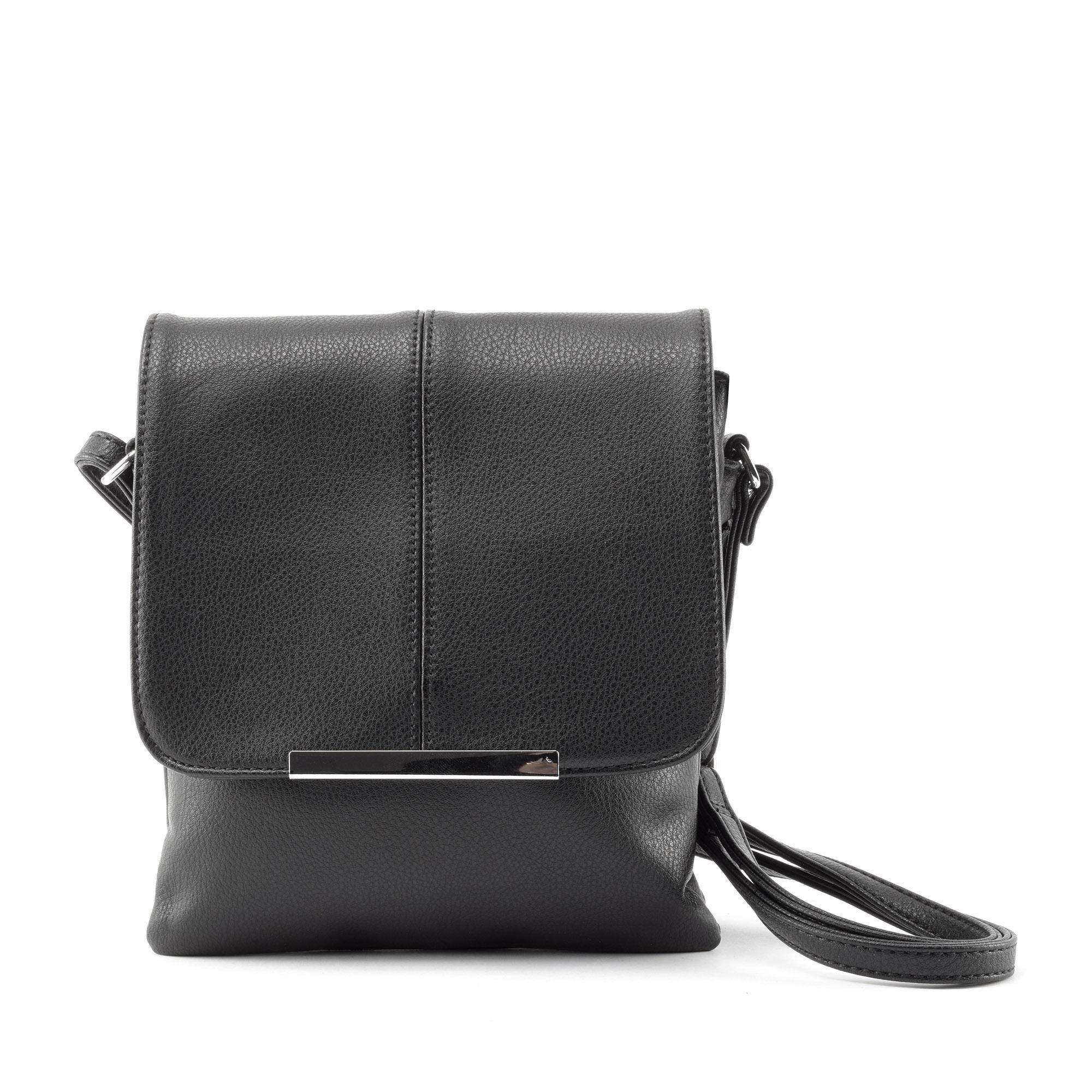 Fekete női műbőr oldaltáska - Átvetős Oldaltáskák - Táska webáruház -  Minőségi táskák mindenkinek 90da552655