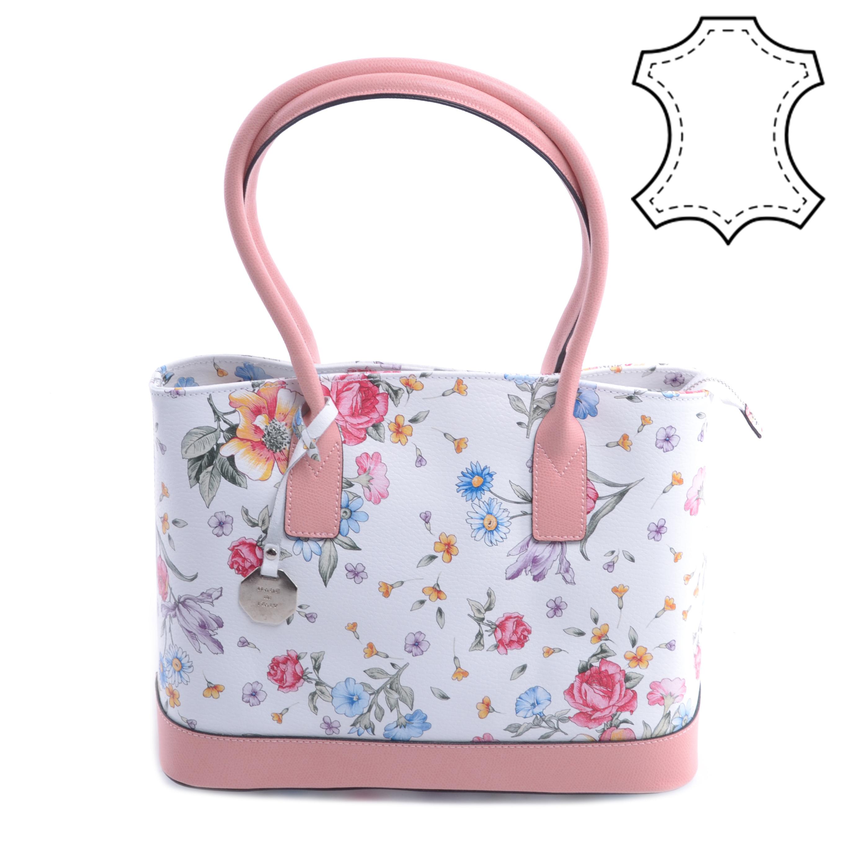 ab9cc35270ac Virág Mintás Valódi Bőr Oldaltáska - Válltáskák - Táska webáruház -  Minőségi táskák mindenkinek
