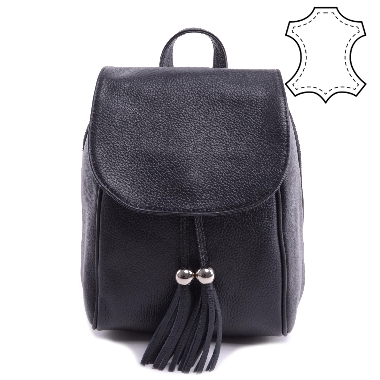 Fekete Női Vadlódi Bőr Hátizsák - VALÓDI BŐRTÁSKÁK - Táska webáruház -  Minőségi táskák mindenkinek 3bda231bf2