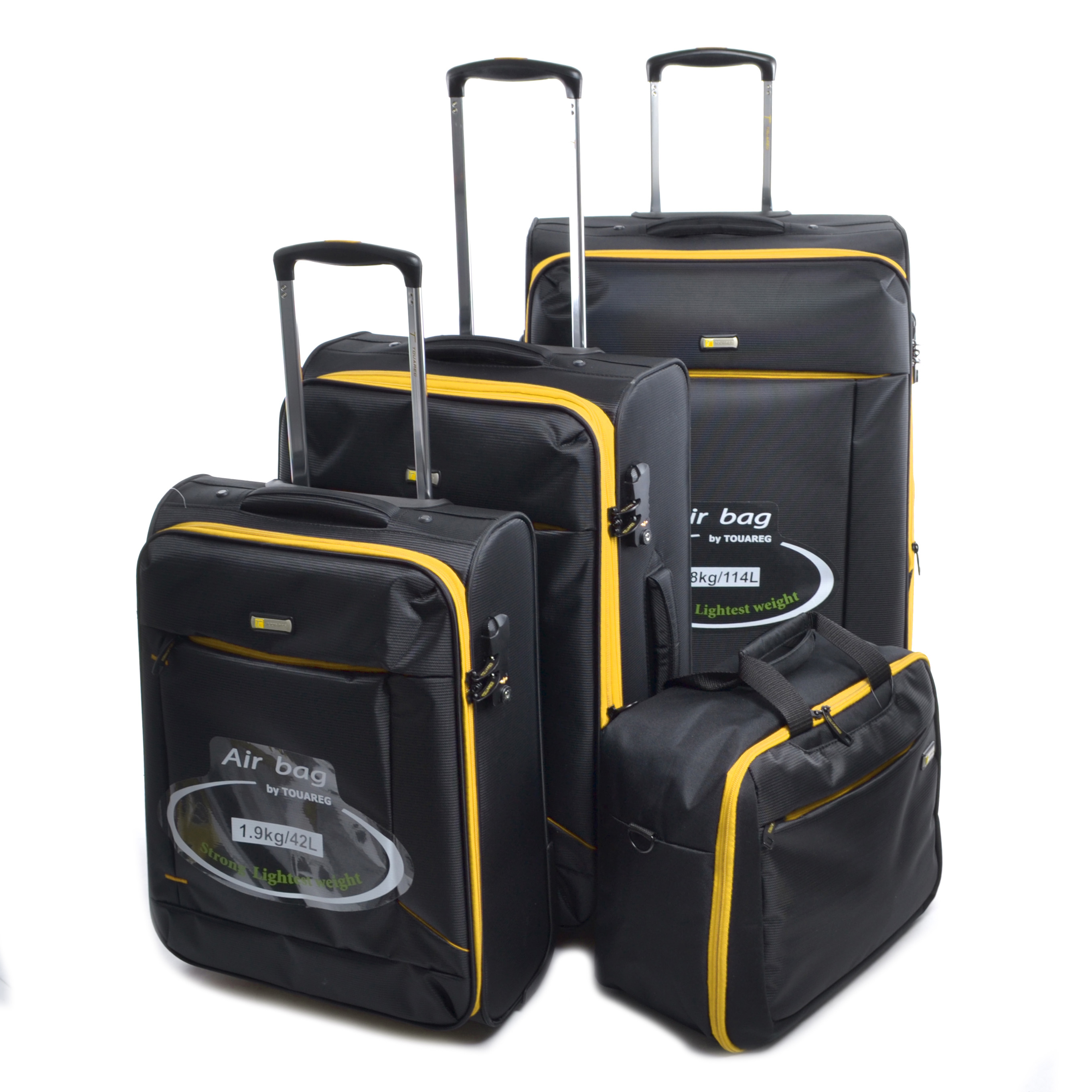 a1347e1893d2 Touareg Bőrönd Szett Fekete-Sárga - Touareg - Táska webáruház - Minőségi  táskák mindenkinek