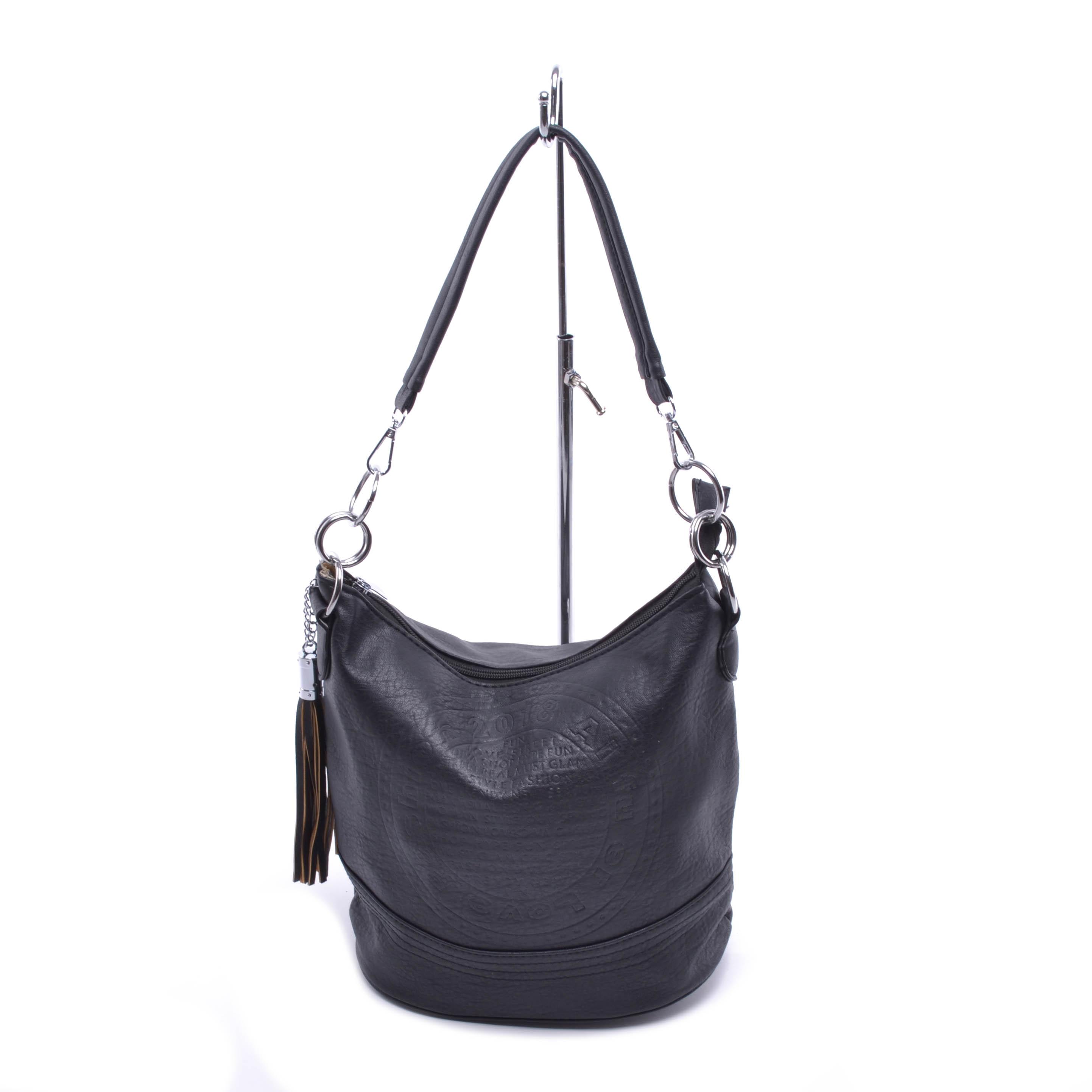 Fekete Női Műbőr Válltáska - Válltáskák - Táska webáruház - Minőségi táskák  mindenkinek 1a9480a456