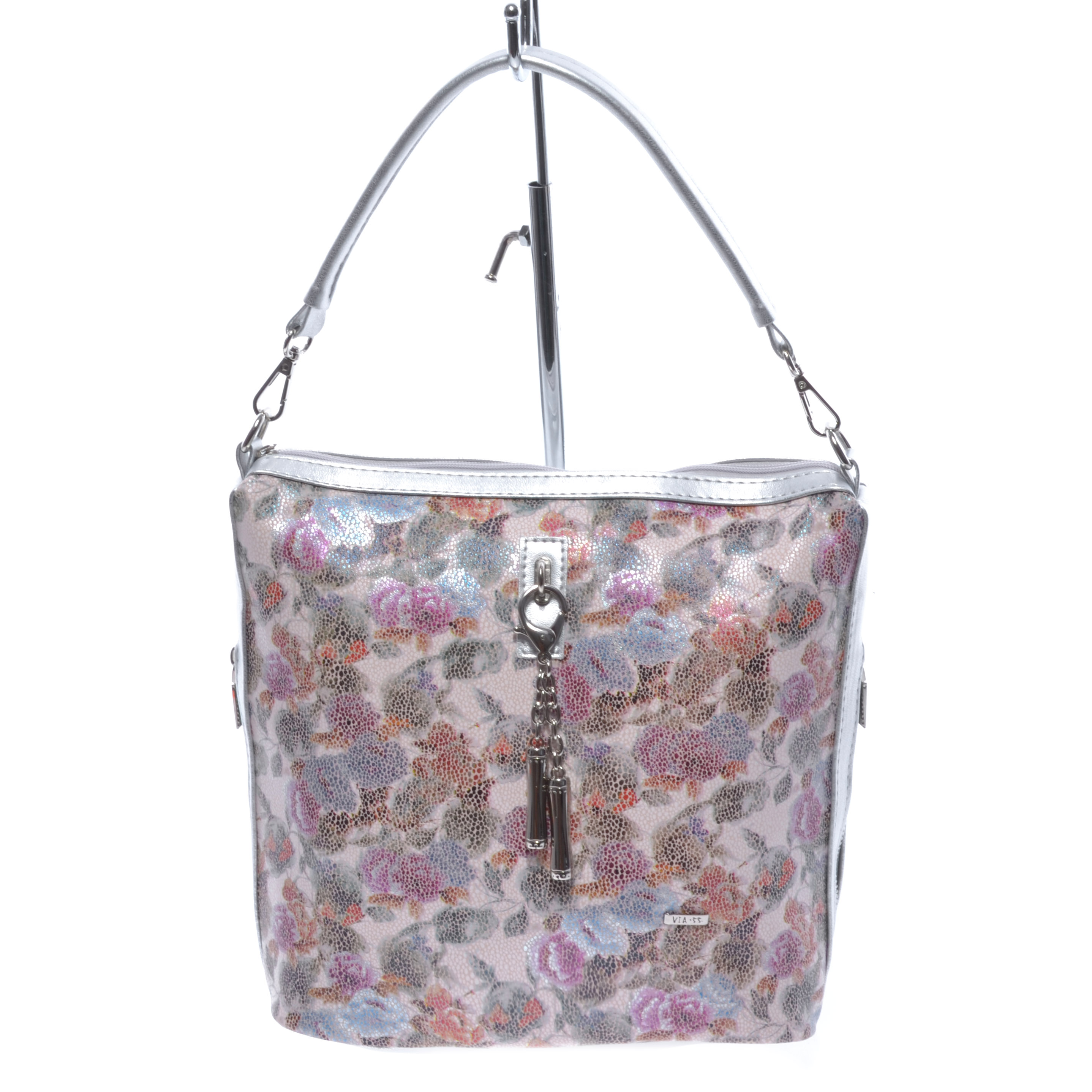 ac9f63ebe977 Via.55 Virágos Műbőr Női Válltáska - Válltáskák - Táska webáruház -  Minőségi táskák mindenkinek