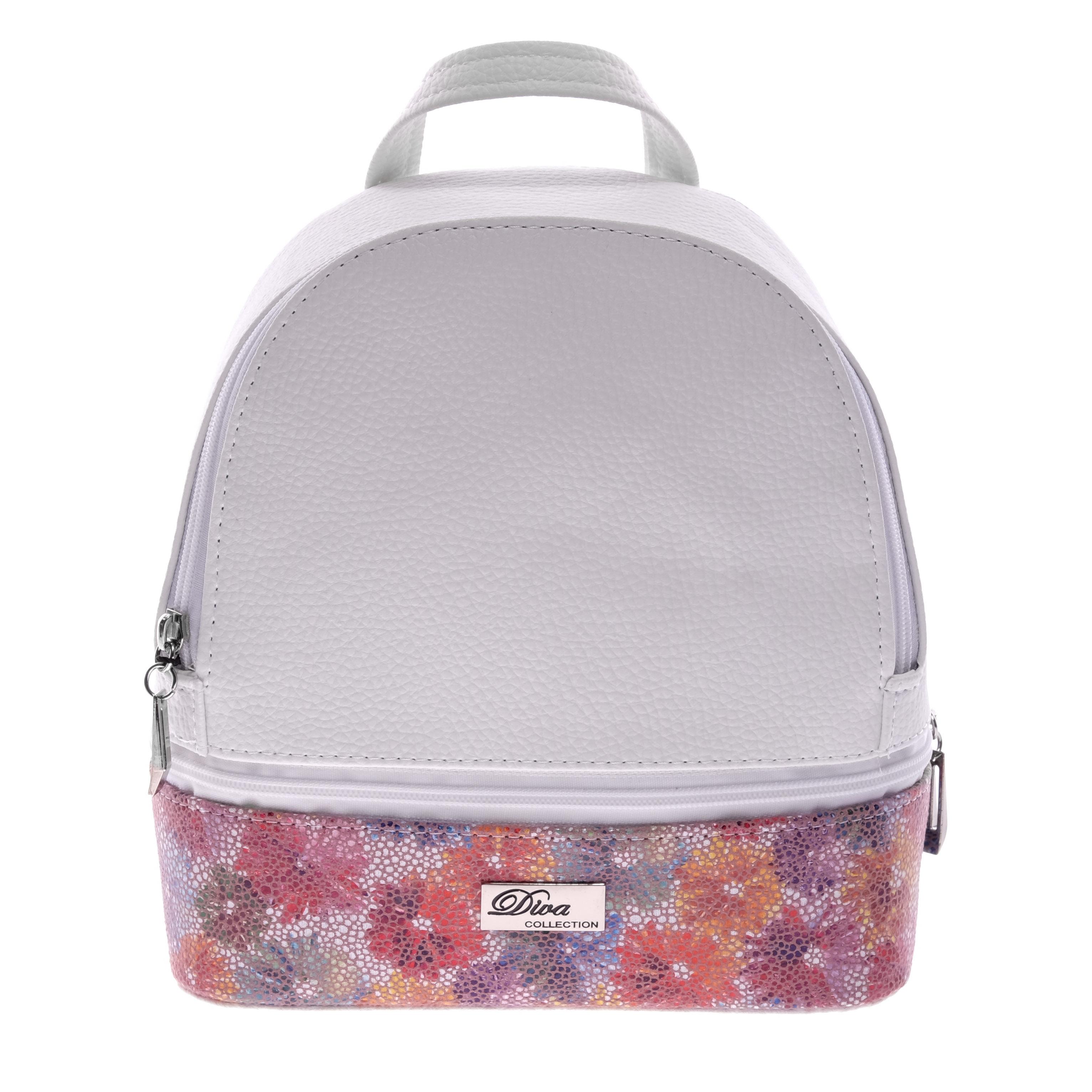 Diva Női Fehér Virágos Hátizsák - Műbőr - Táska webáruház - Minőségi táskák  mindenkinek 93e6999b59
