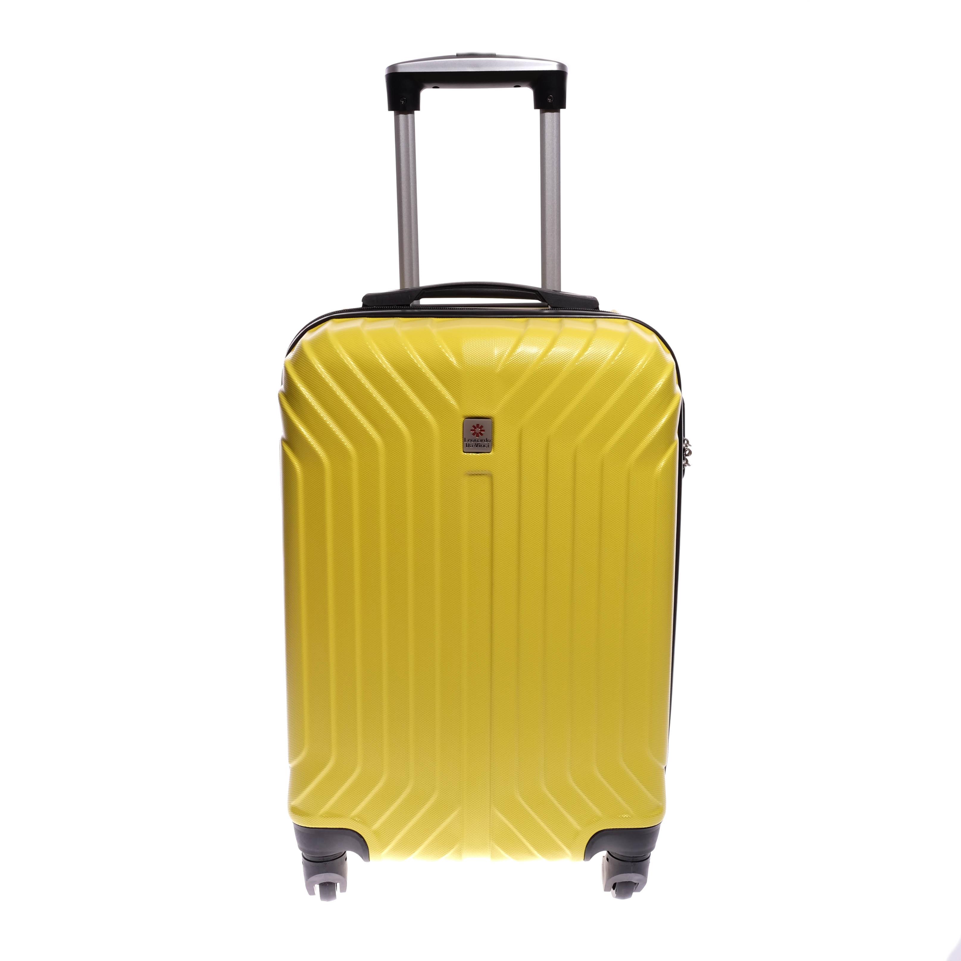 10fae8f4b1c3 Leonardo Da Vinci Go! Sárga Kemény Közepes Bőrönd (4 Kerekű) - KÖZEPES  MÉRETŰ BŐRÖNDÖK - Táska webáruház - Minőségi táskák mindenkinek