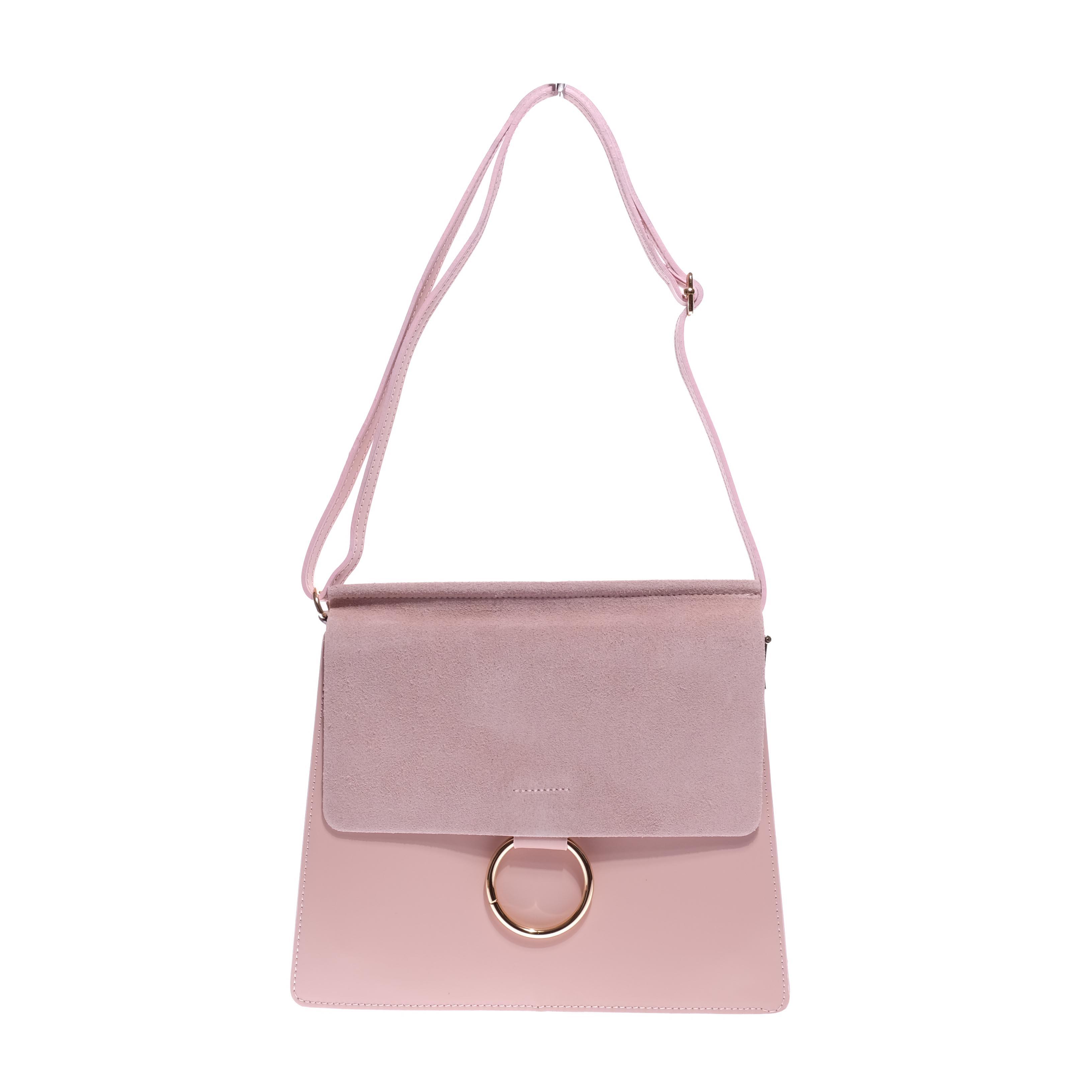 84dc168da7d9 Besty Rózsaszín Valódi Bőr Fekete Női Oldaltáska - VALÓDI BŐRTÁSKÁK - Táska  webáruház - Minőségi táskák mindenkinek