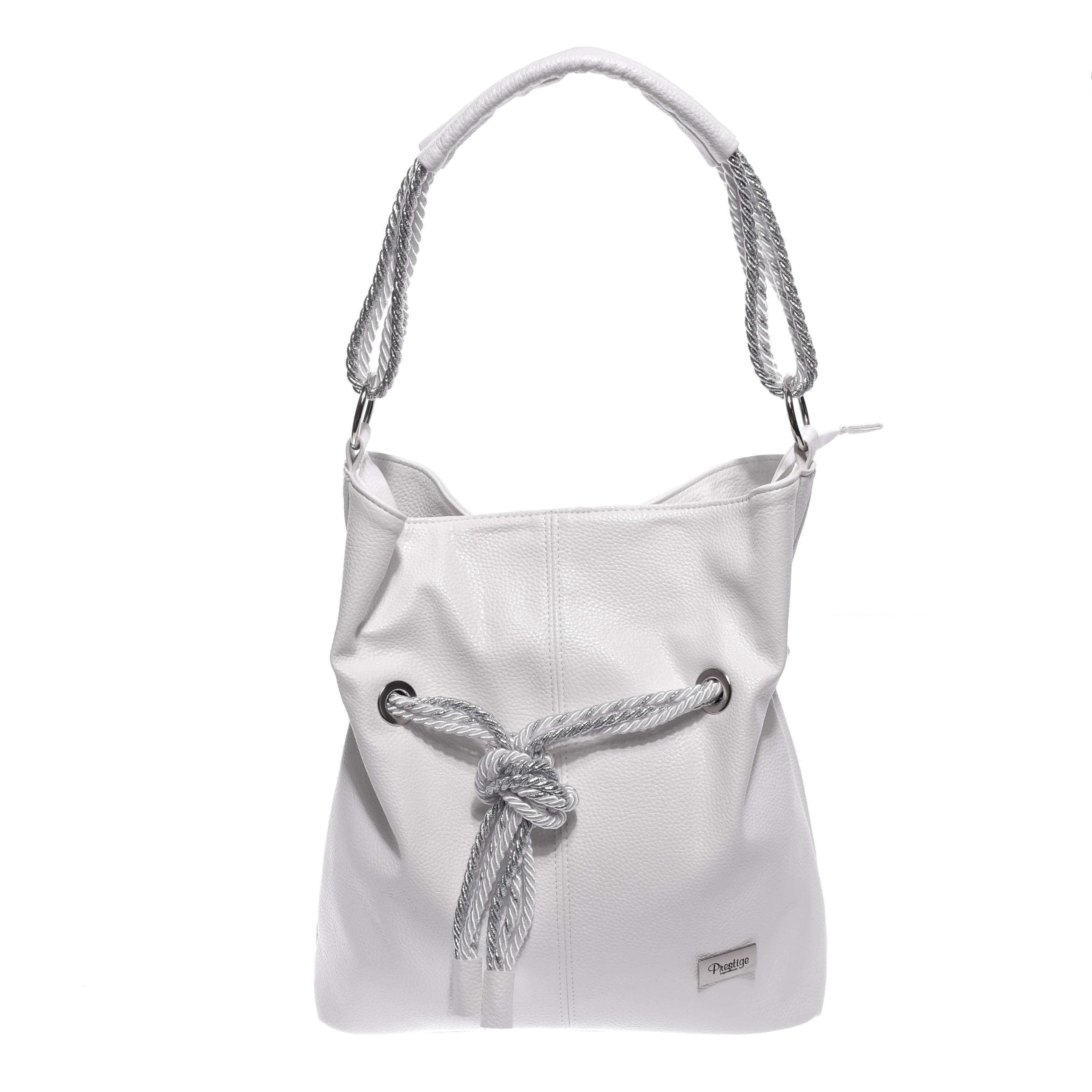 Prestige Fehér Női Rostbőr Válltáska - Válltáskák - Táska webáruház - Minőségi  táskák mindenkinek a561612bfe