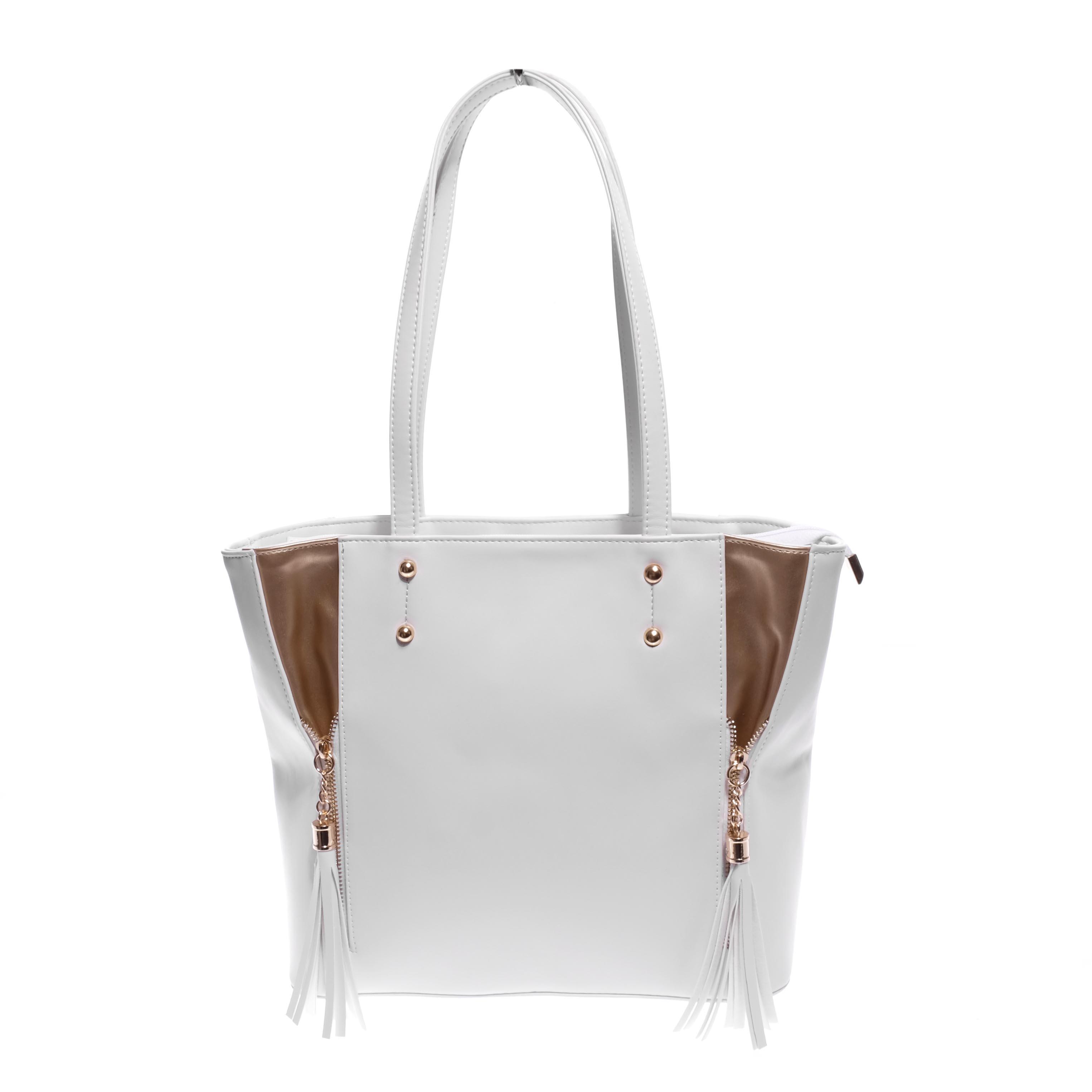 7cb22c3198c7 Prestige Fehér Női Rostbőr Válltáska - Válltáskák - Táska webáruház - Minőségi  táskák mindenkinek