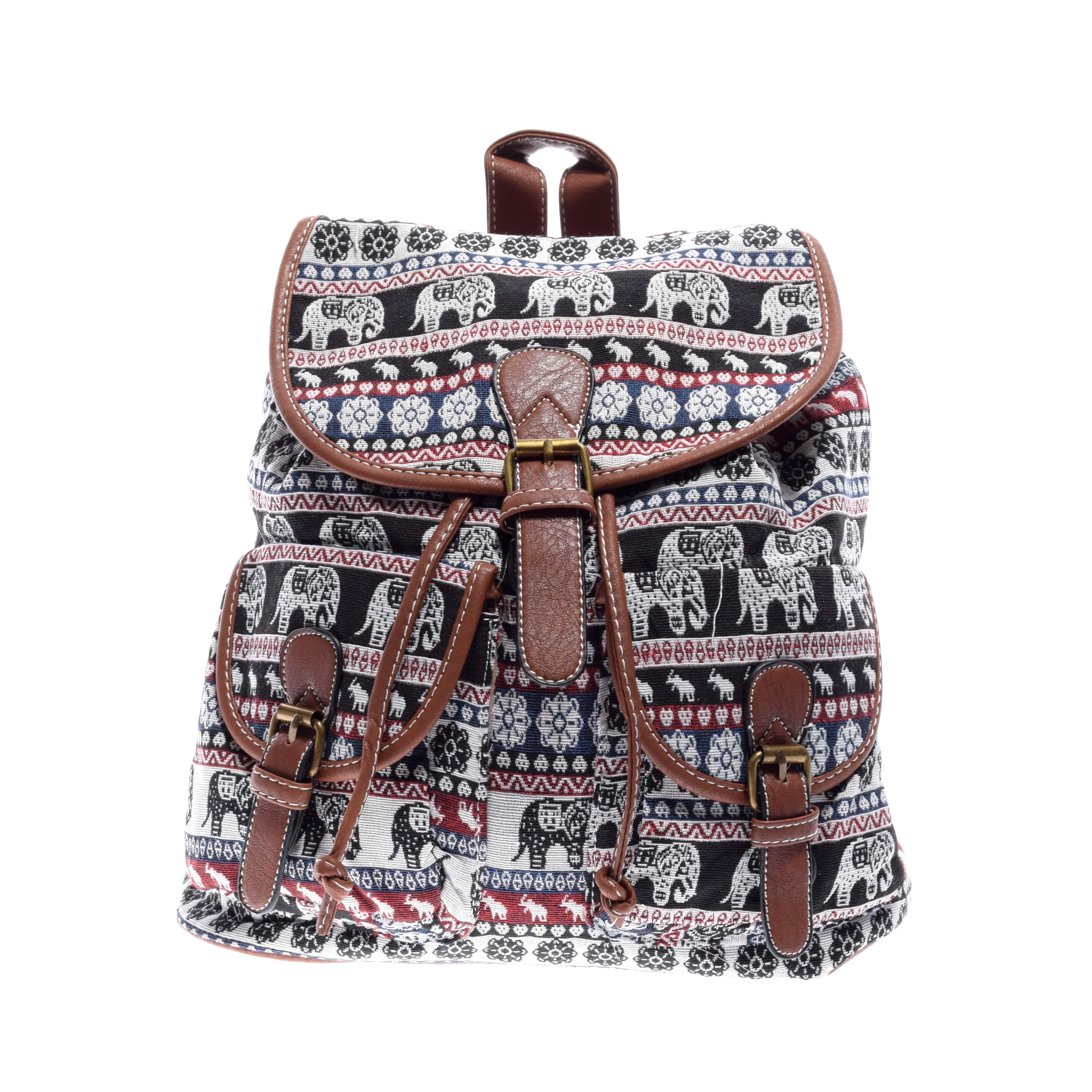 Mintás Női Vászon Hátizsák - Vászon - Táska webáruház - Minőségi táskák  mindenkinek b19c9db06f