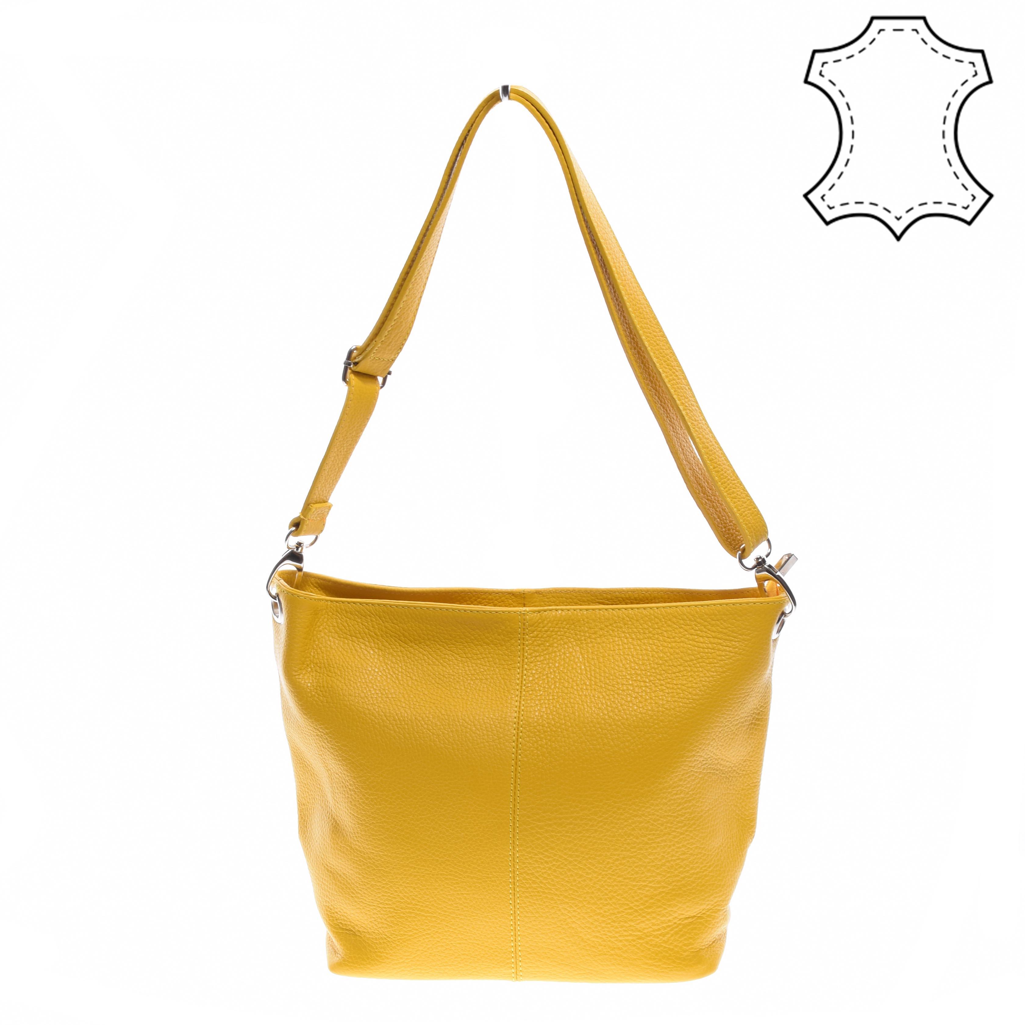 cbdd7802a4c6 Valódi Bőr Női Oldaltáska Sárga - Kézitáskák - Táska webáruház - Minőségi  táskák mindenkinek