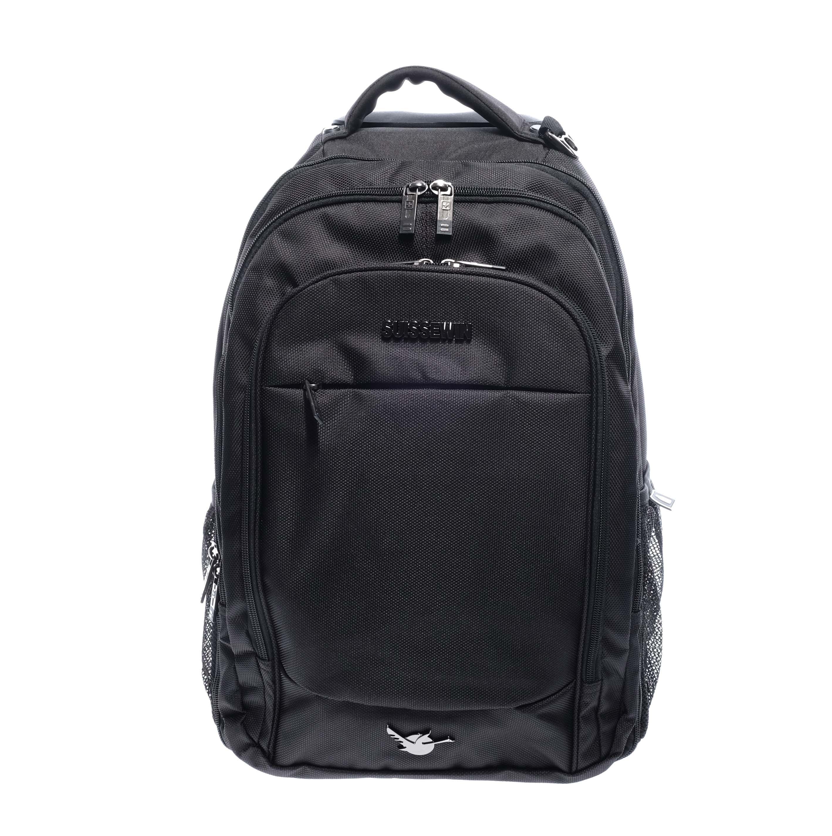 7d640a581be2 Suissewin Fekete Gurulós Hátizsák - HÁTIZSÁKOK - Táska webáruház - Minőségi  táskák mindenkinek