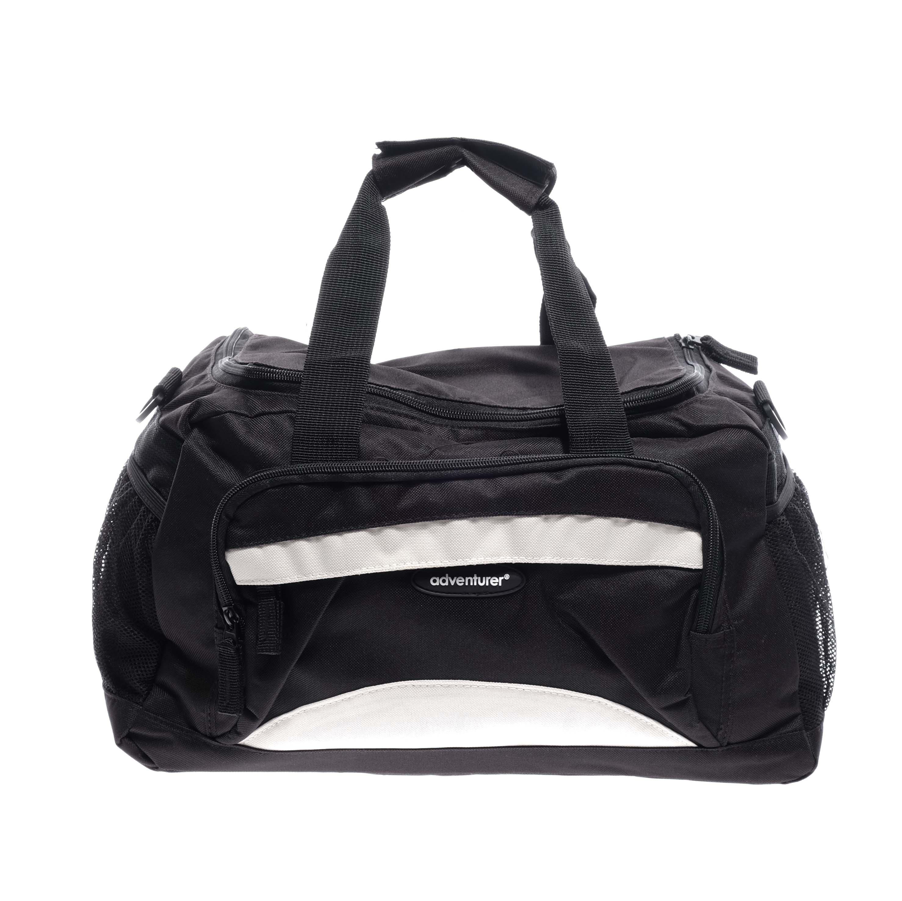641e0038600c Adventurer Fekete/Fehér kismeret Sporttáska - KIS MÉRETŰ UTAZÓTÁSKA - Táska  webáruház - Minőségi táskák mindenkinek