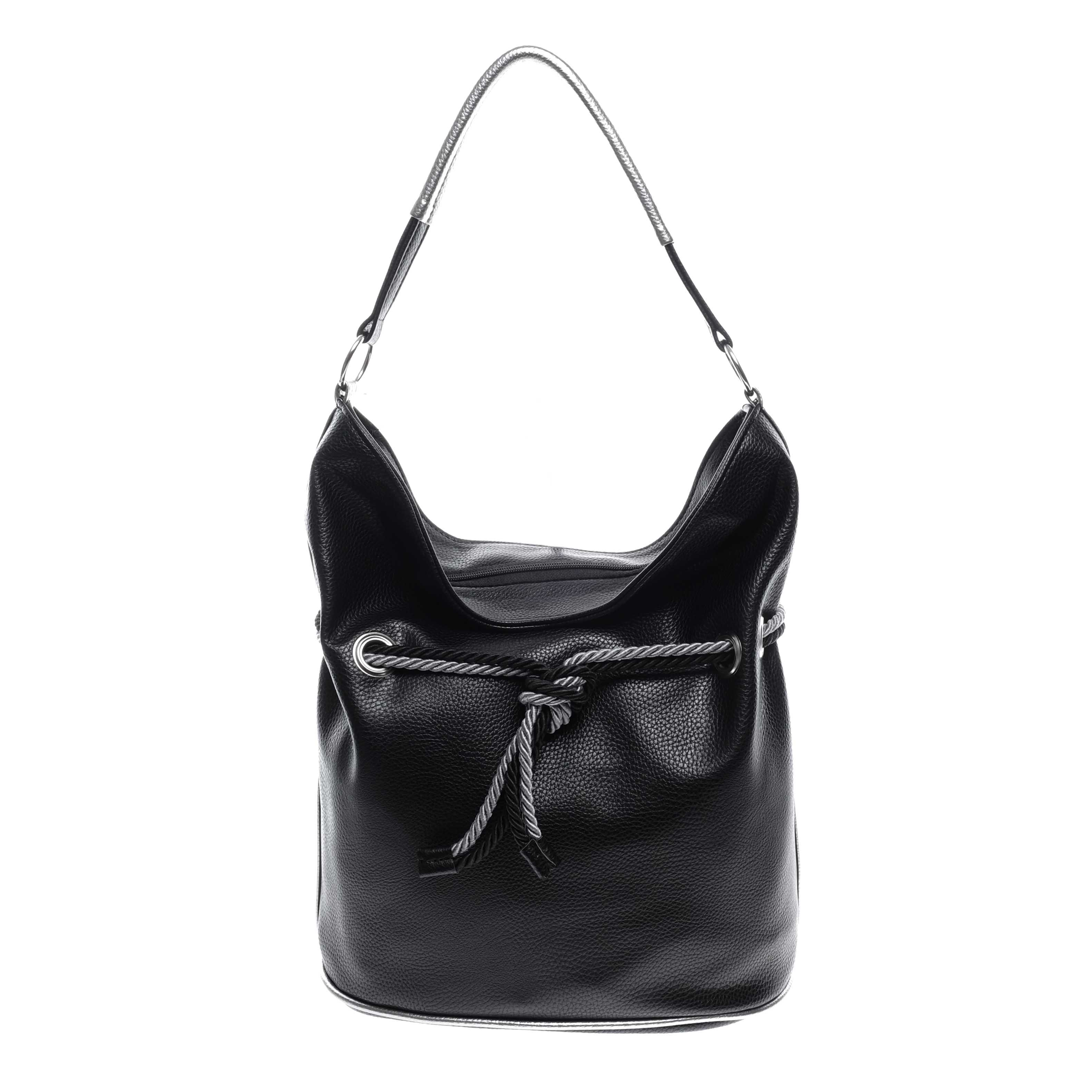 Prestige fekete ezüst Női Rostbőr Válltáska - Válltáskák - Táska webáruház  - Minőségi táskák mindenkinek 247d7ea7e1