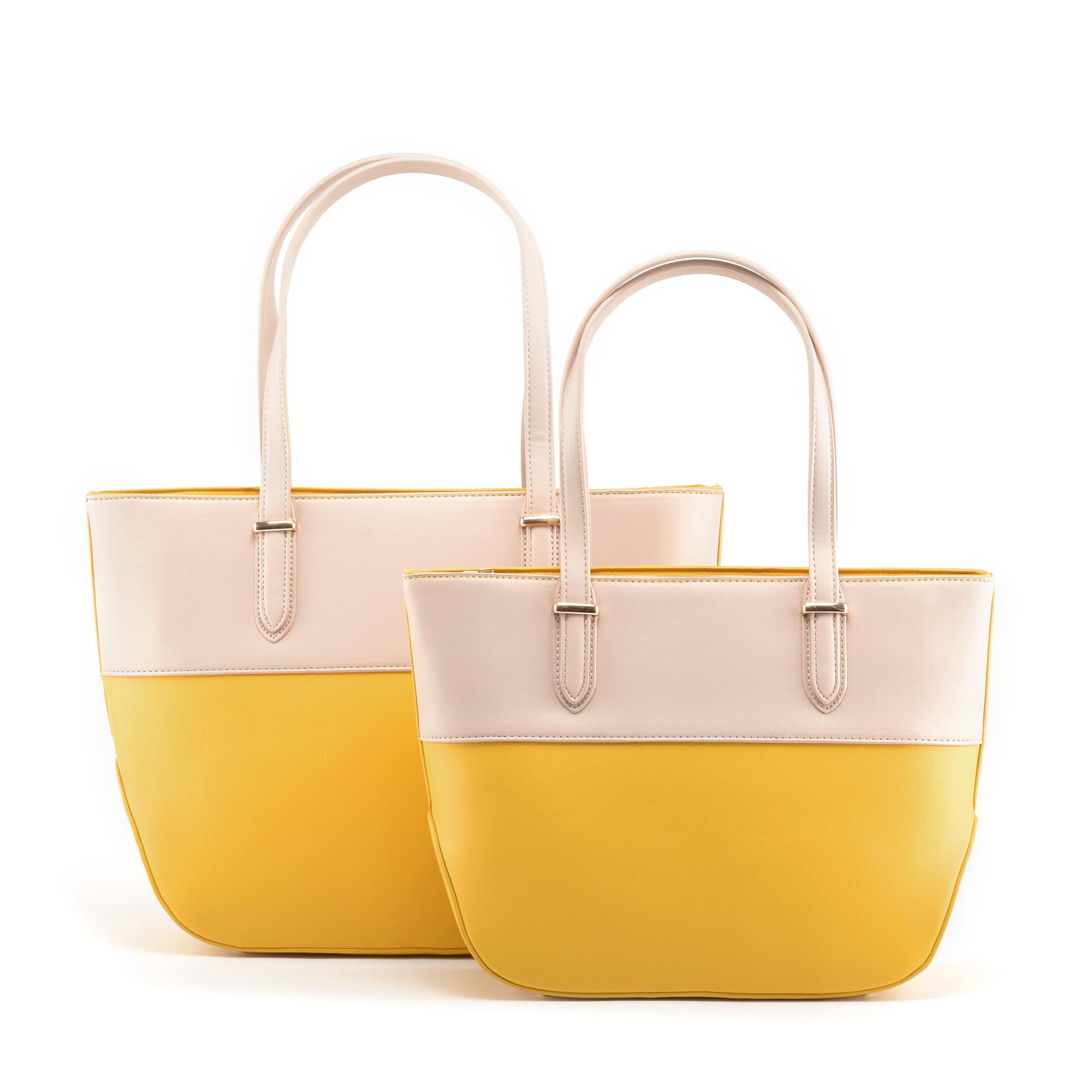 84a46ee387 HERISSON Cipzáros Sárga-Rózsaszín Női Műbőr Kézitáska - Válltáskák - Táska  webáruház - Minőségi táskák mindenkinek