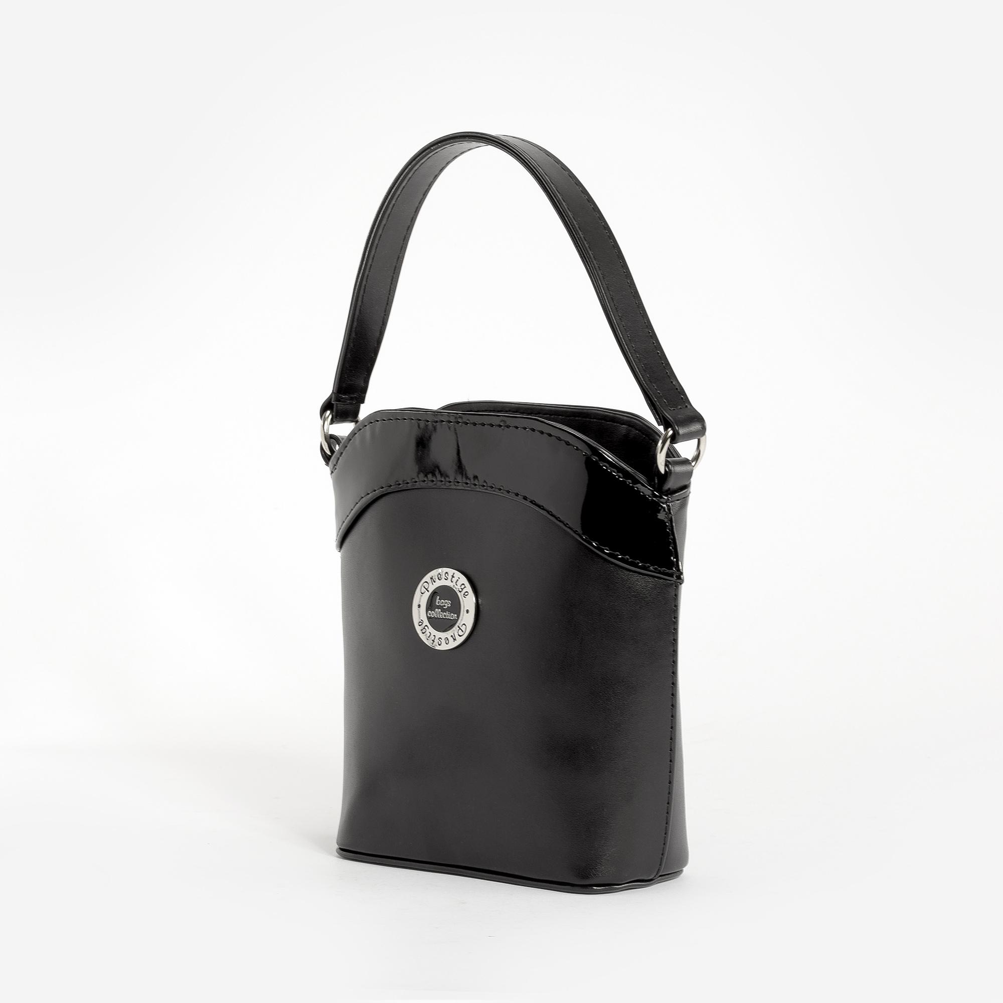 107b0603f328 Prestige Fekete Női Rostbőr Kézi és Válltáska - Kézitáskák - Táska webáruház  - Minőségi táskák mindenkinek