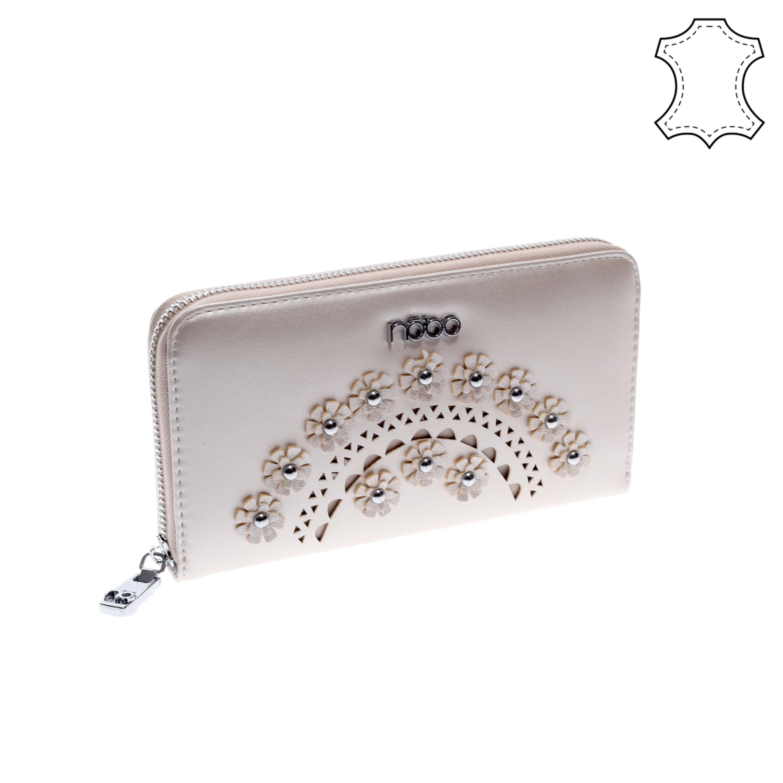 852f902130 NÖBO Pezsgő színű női rostbőr pénztárca - NŐI PÉNZTÁRCÁK - Táska webáruház  - Minőségi táskák mindenkinek