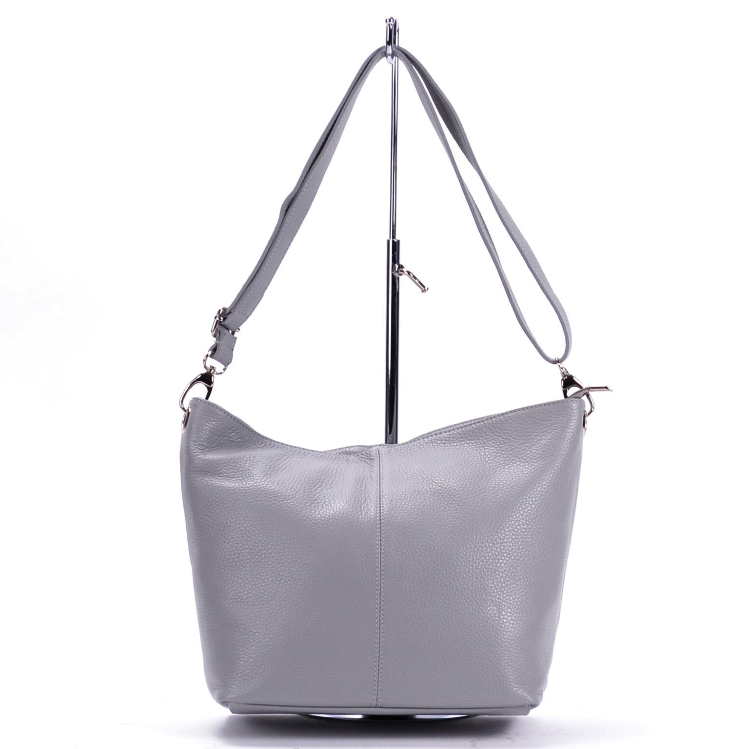 0fad4ad5dfa2 Besty Női Közepes Méretű Valódi Bőr Szürke Válltáska - VALÓDI BŐRTÁSKÁK - Táska  webáruház - Minőségi táskák mindenkinek