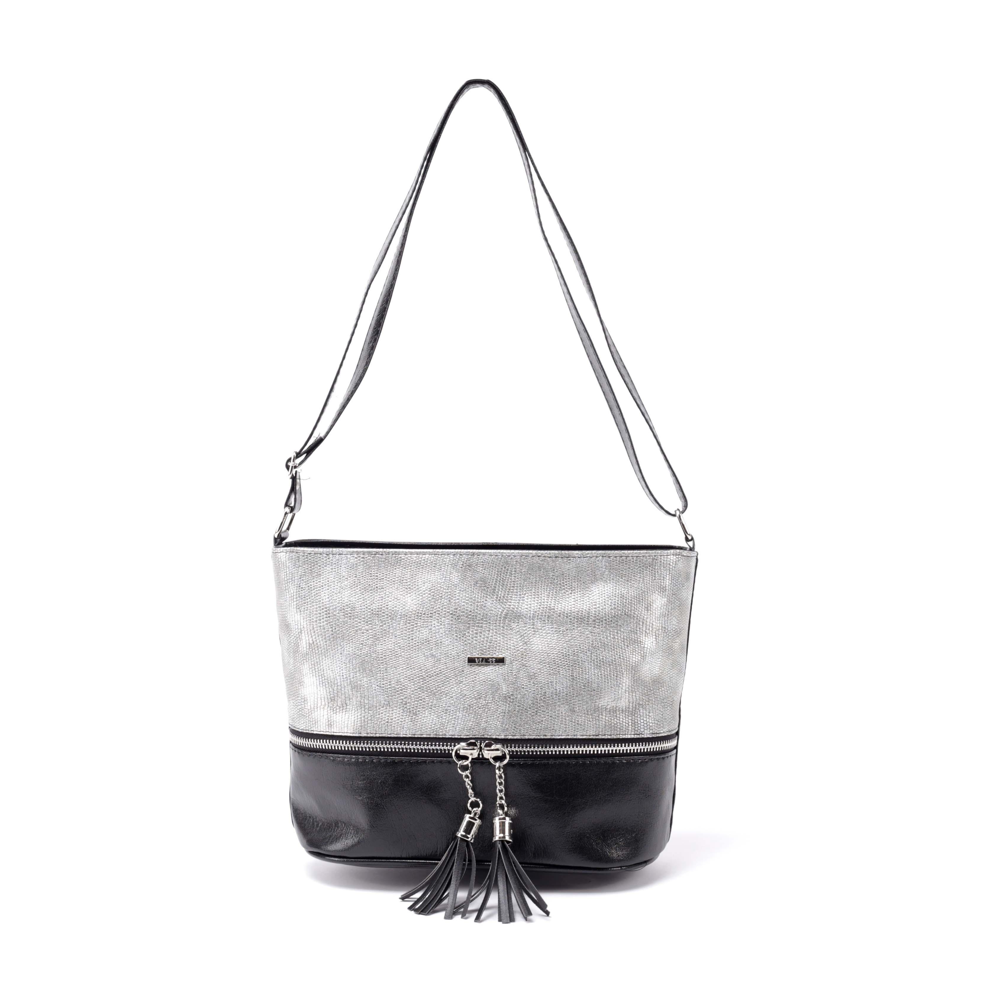 Via 55 Elegáns Kis Méretű Alkalmi Fekete Ezüst Átvetős Oldaltáska -  Átvetős Oldaltáskák - Táska webáruház - Minőségi táskák mindenkinek e20d665590