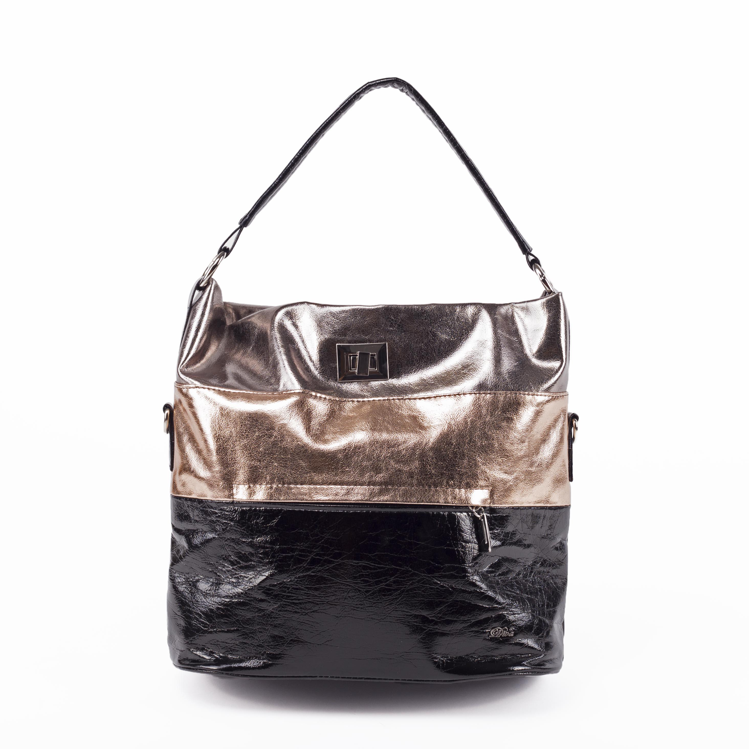 Diva Női Csíkos Rózsaarany Bronz Válltáska - Válltáskák - Táska webáruház - Minőségi  táskák mindenkinek c334f345d7