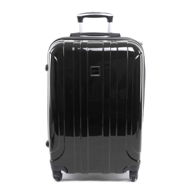 Ormi Kemény Fényes Bőrönd Fekete Kicsi - KABIN (kis) MÉRETŰ BŐRÖNDÖK - Táska  webáruház - Minőségi táskák mindenkinek fcc513fb72