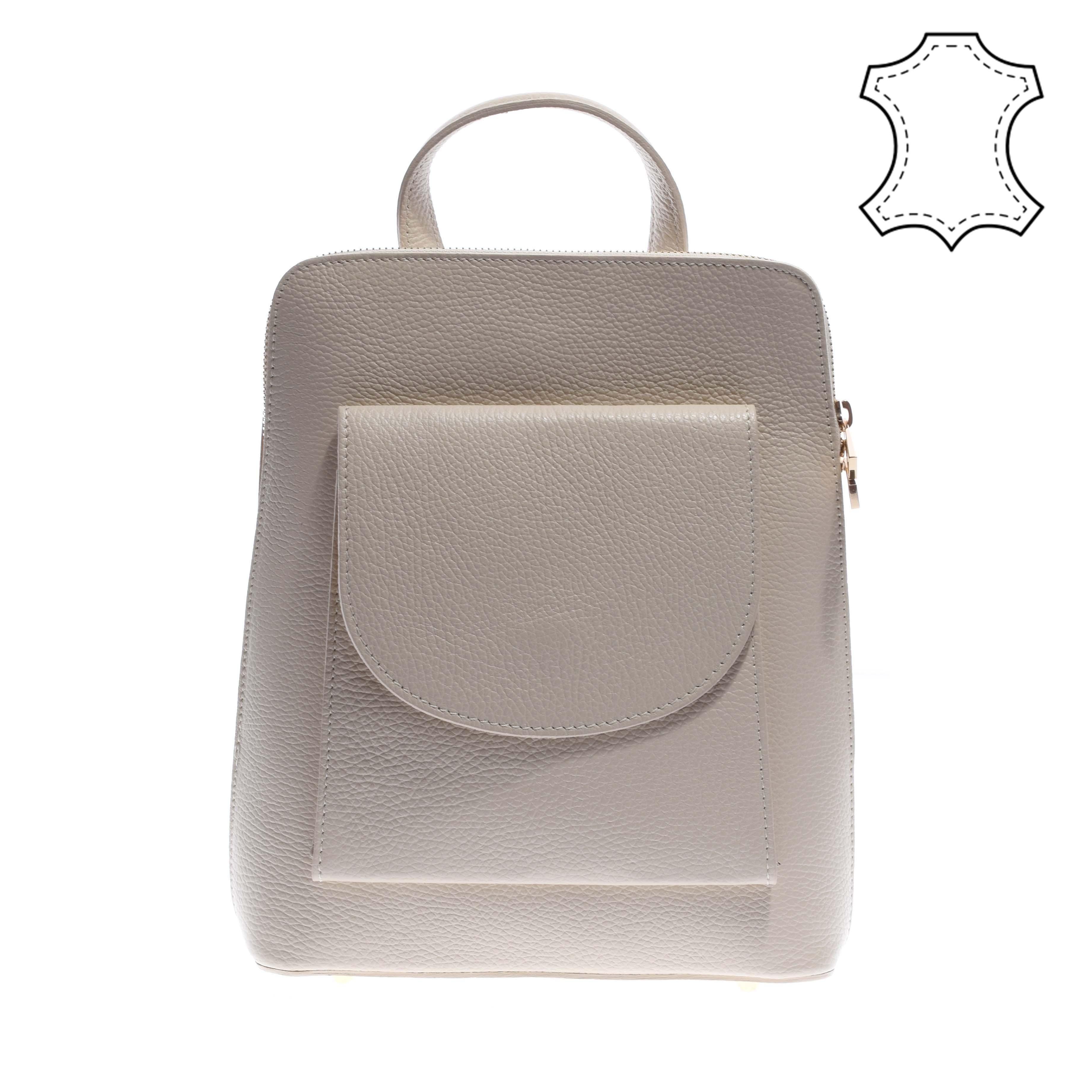 Bézs női valódi bőr hátitáska és válltáska - VALÓDI BŐRTÁSKÁK - Táska  webáruház - Minőségi táskák mindenkinek b5ec13a35d