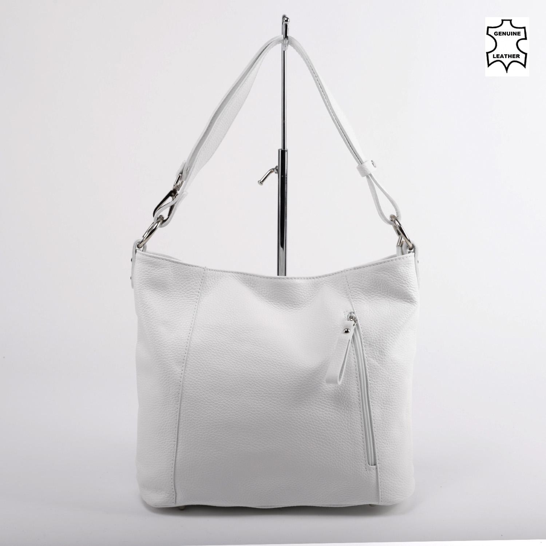 d156f5cebbe4 Besty Fehér Női Valódi Bőr Válltáska - VALÓDI BŐRTÁSKÁK - Táska webáruház - Minőségi  táskák mindenkinek