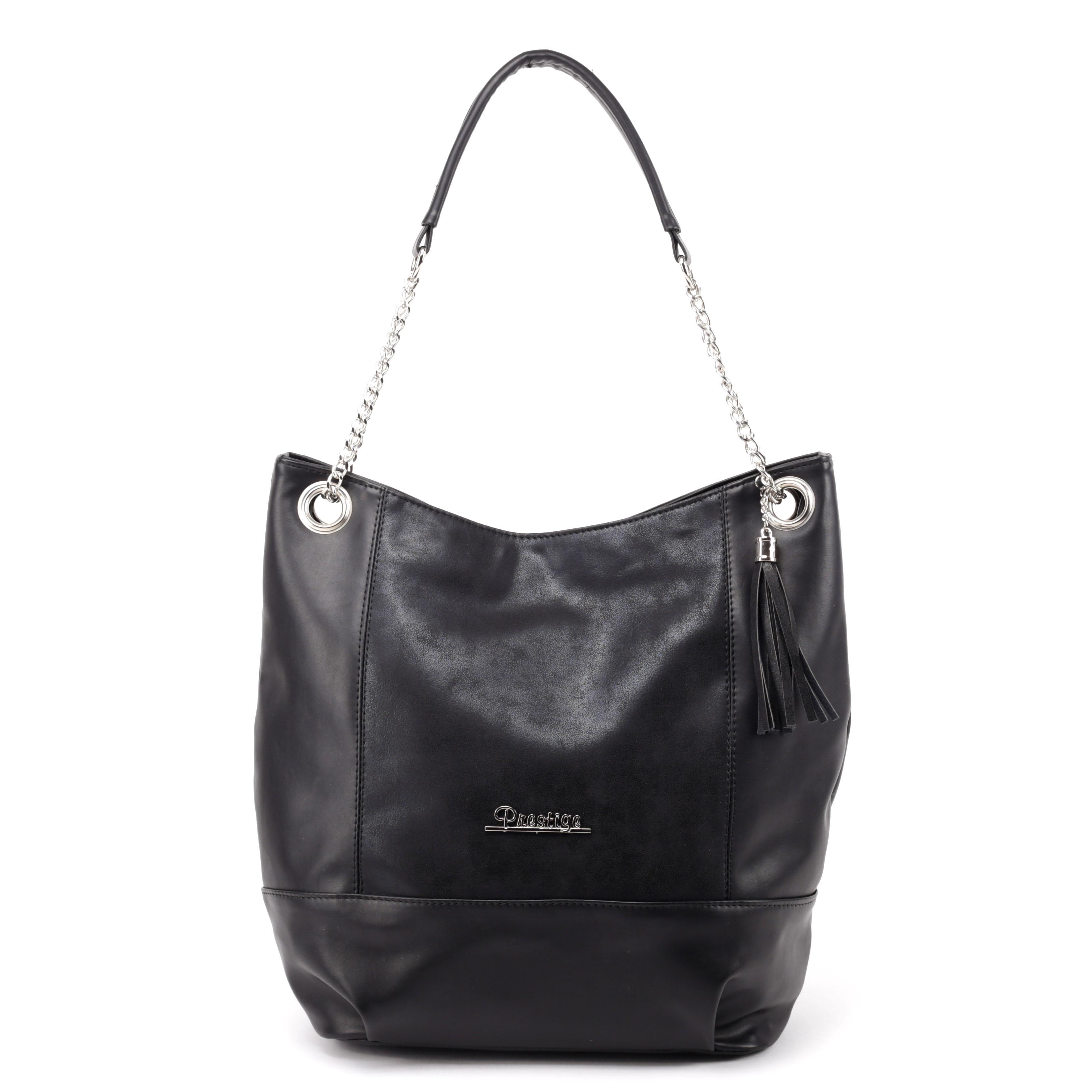 Prestige Fekete Női Rostbőr Táska - Válltáskák - Táska webáruház - Minőségi  táskák mindenkinek 9b9a599a93