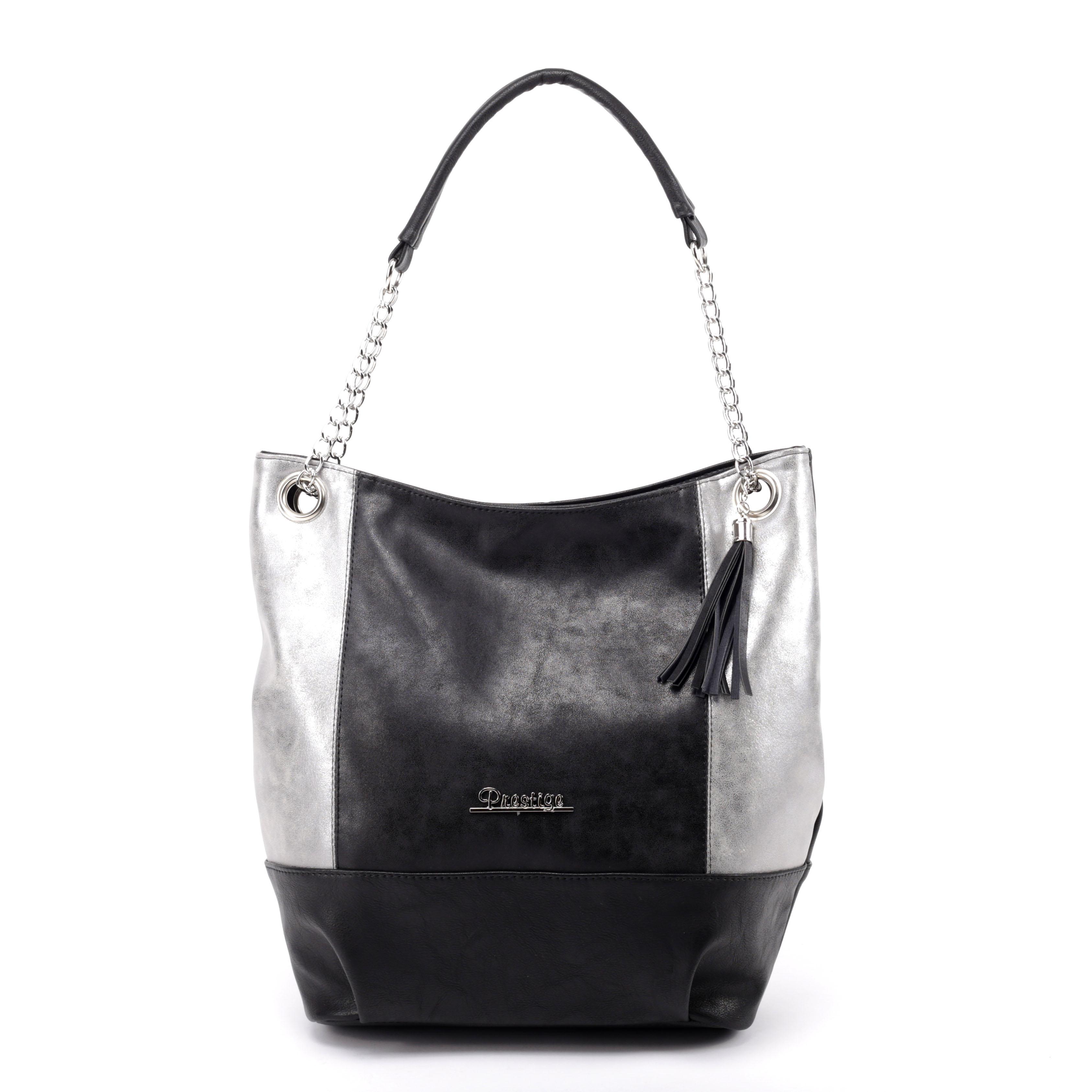 Prestige Fekete Ezüst Női Rostbőr Táska - Válltáskák - Táska webáruház -  Minőségi táskák mindenkinek e7da403be0