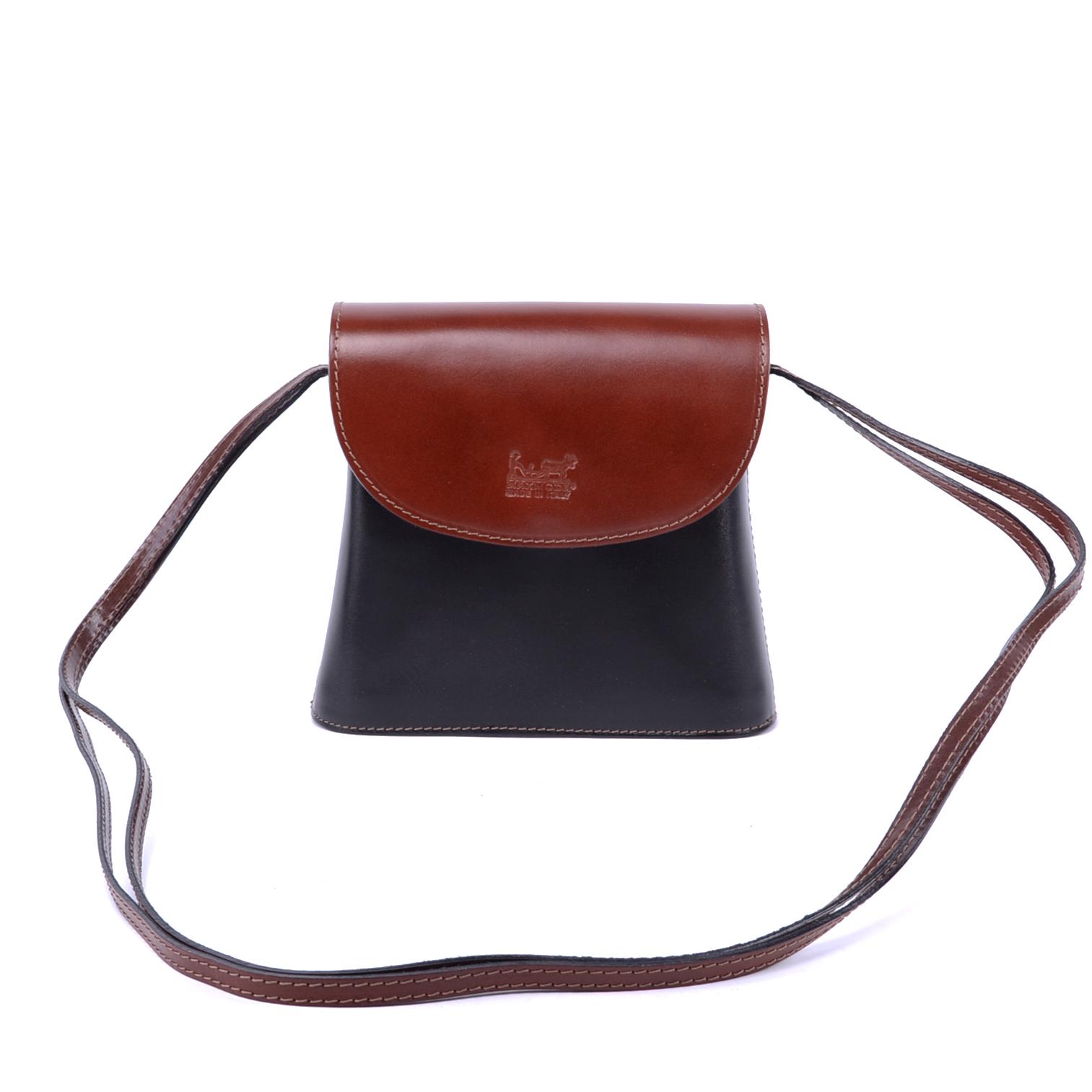 16d84c6f844f Maxmoda Kis Méretű Fekete-Barna Valódi Bőr Női Válltáska - VALÓDI BŐRTÁSKÁK  - Táska webáruház - Minőségi táskák mindenkinek