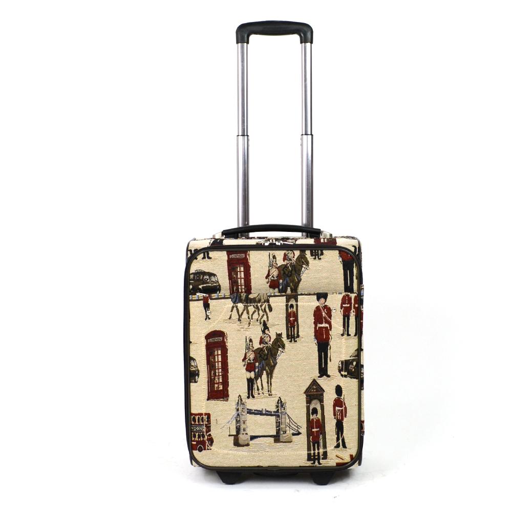 Besty Besty Mintás Vászonbőrőnd Drapp London (4 Kerekű) - KABIN (kis)  MÉRETŰ BŐRÖNDÖK - Táska webáruház - Minőségi táskák mindenkinek 7d42b0815f
