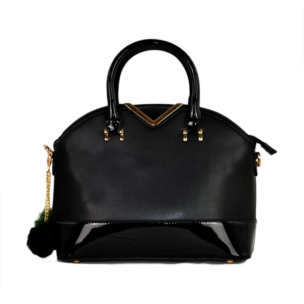 Besty Női Közepes Méretű Fekete Lakk Kézitáska Vállpánttal - Kézitáskák -  Táska webáruház - Minőségi táskák mindenkinek 349d00b4b6