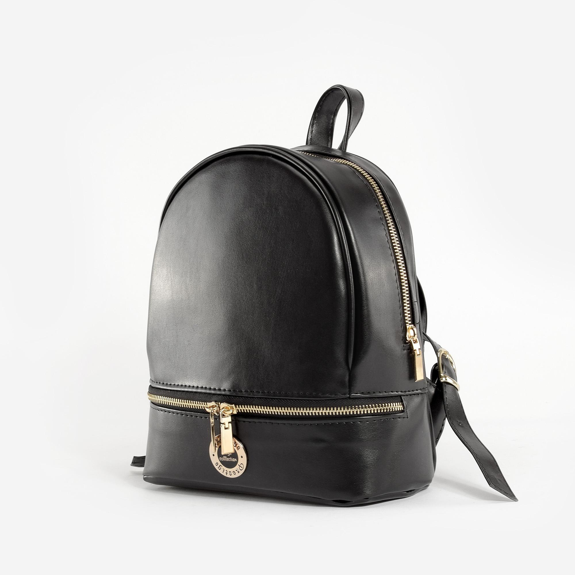 d9a28c8e44 Prestige Fekete Női Rostbőr Hátizsák - Prestige - Táska webáruház -  Minőségi táskák mindenkinek