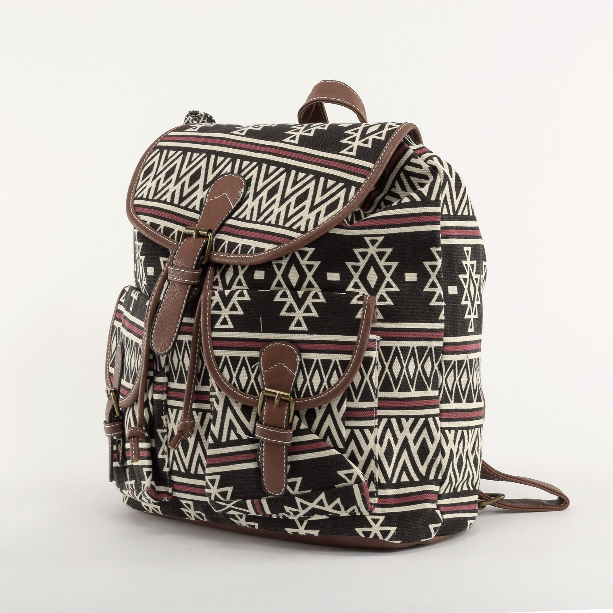 Női Barna Mintás Vászon Hátizsák - Vászon - Táska webáruház - Minőségi  táskák mindenkinek 398b8d9c70