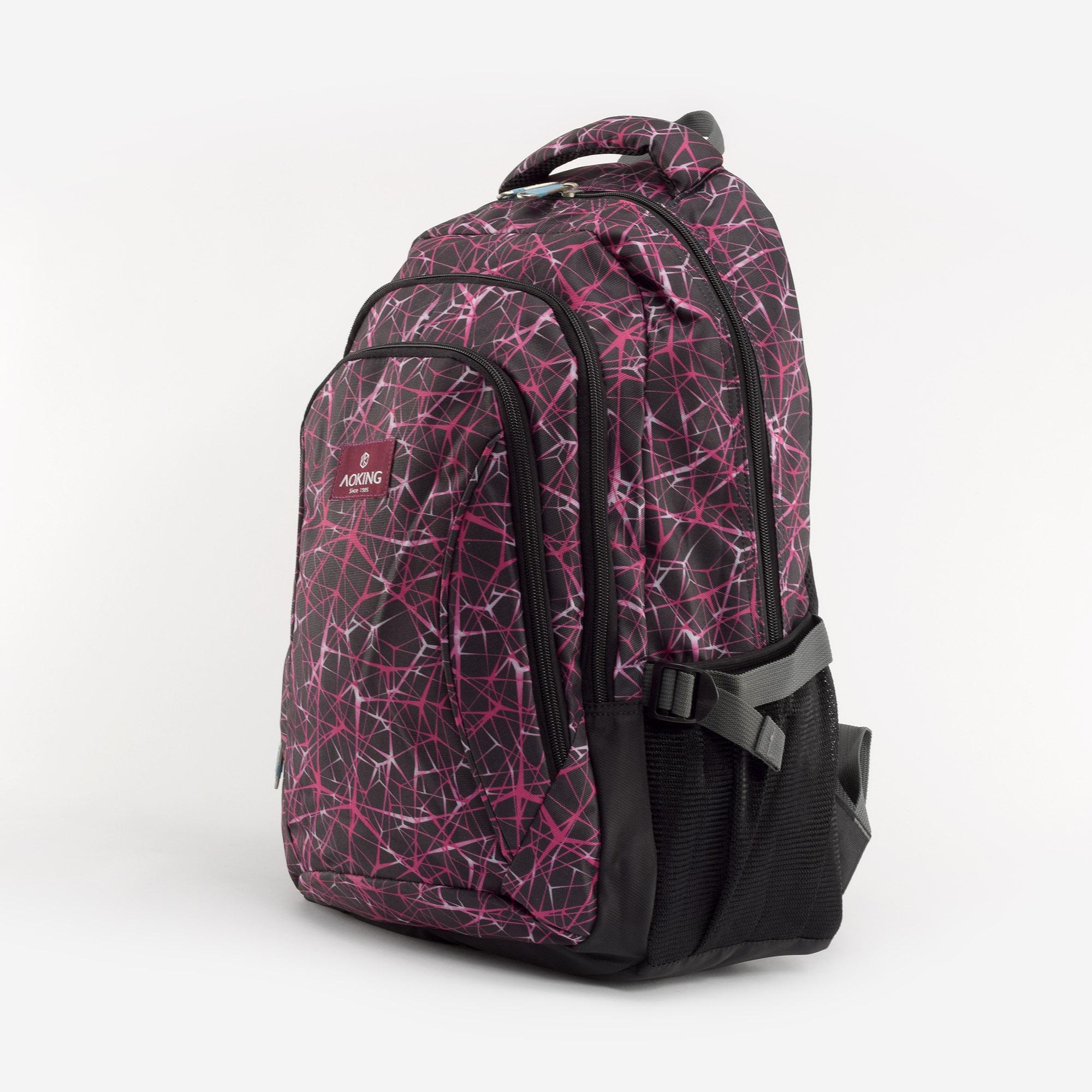 ec059d9bdaff Aoking Lila mintás Poliészter Hátizsák - Túra és szabadidős hátizsákok -  Táska webáruház - Minőségi táskák mindenkinek
