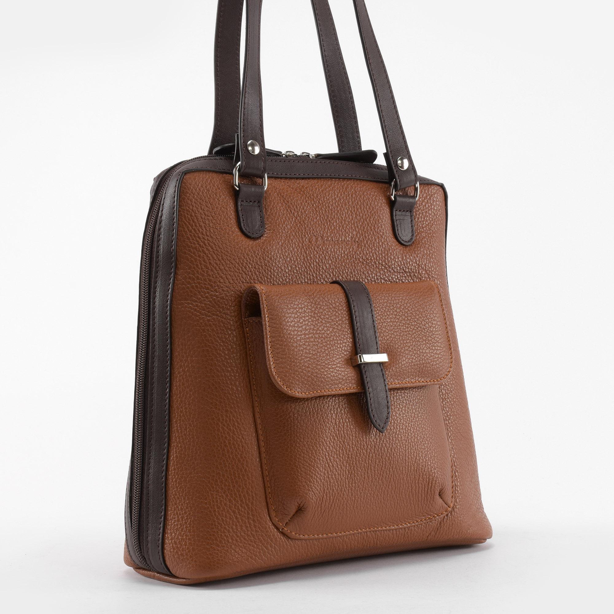 Monarchy Moto Barna Női Valódi Bőr Válltáska   Hátizsák - Válltáskák - Táska  webáruház - Minőségi táskák mindenkinek 268aef8e5b