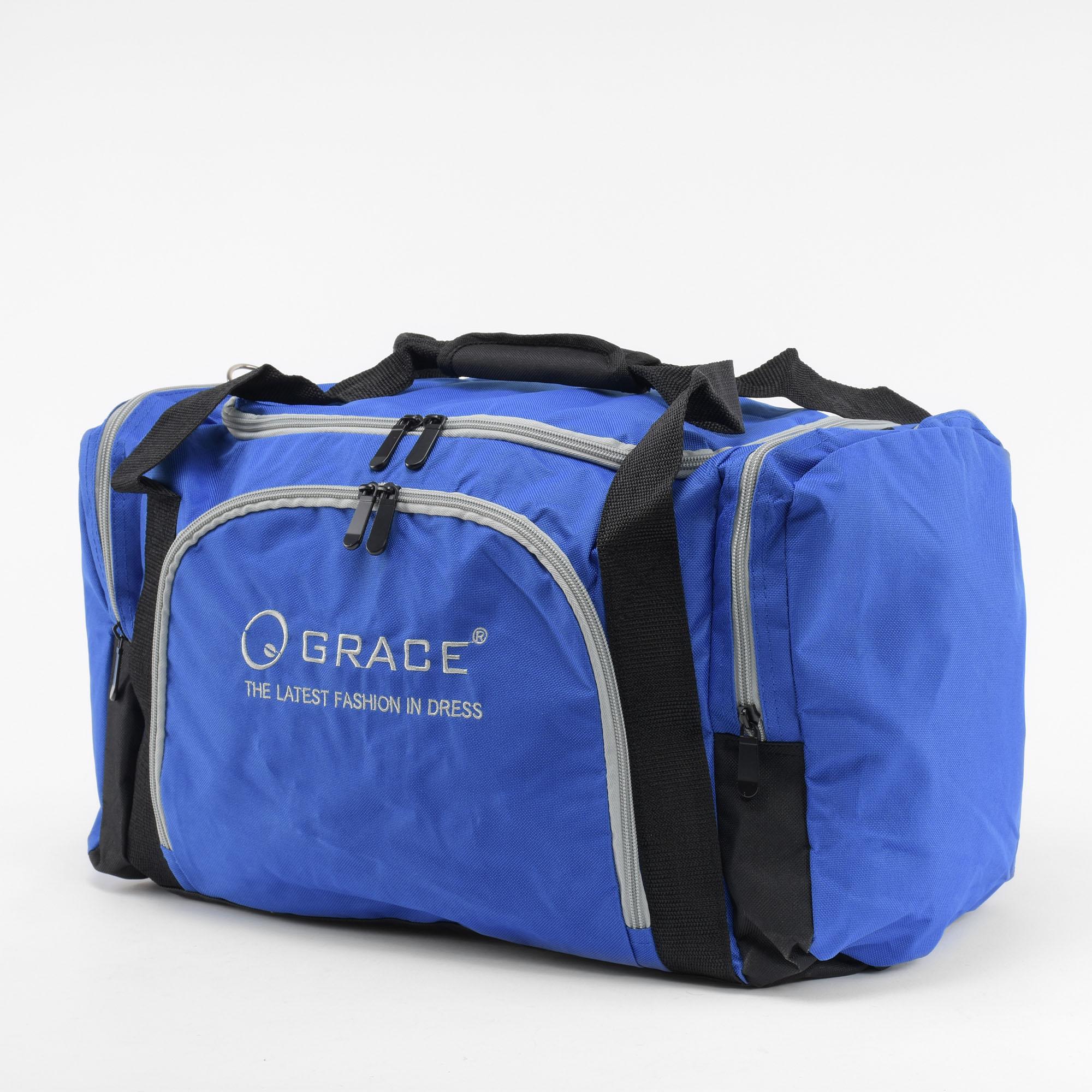 381d8d6d7146 Grace Kék-Szürke Poliészter Sporttáska - SPORTTÁSKÁK - Táska webáruház -  Minőségi táskák mindenkinek