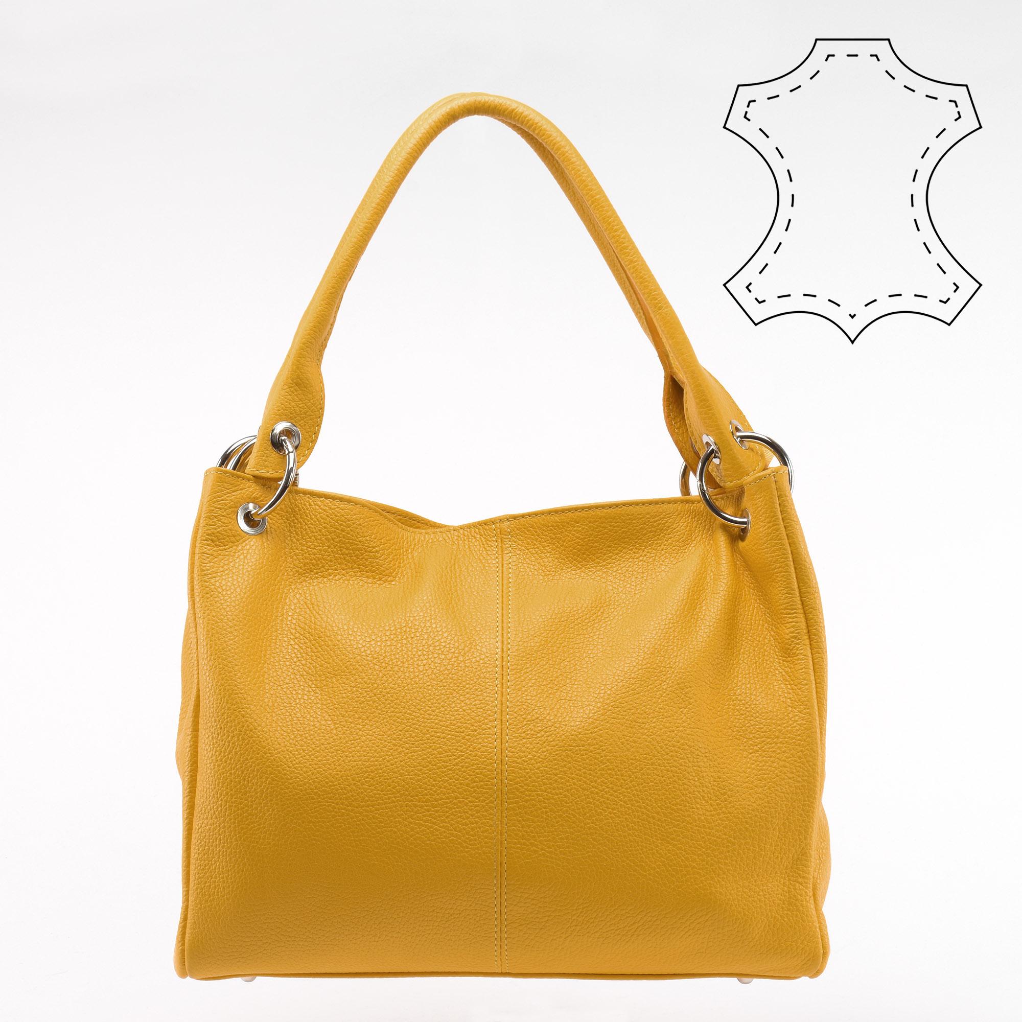 e0233bd5b60b Sárga Női Valódi Bőr Olasz Válltáska - Válltáskák - Táska webáruház - Minőségi  táskák mindenkinek