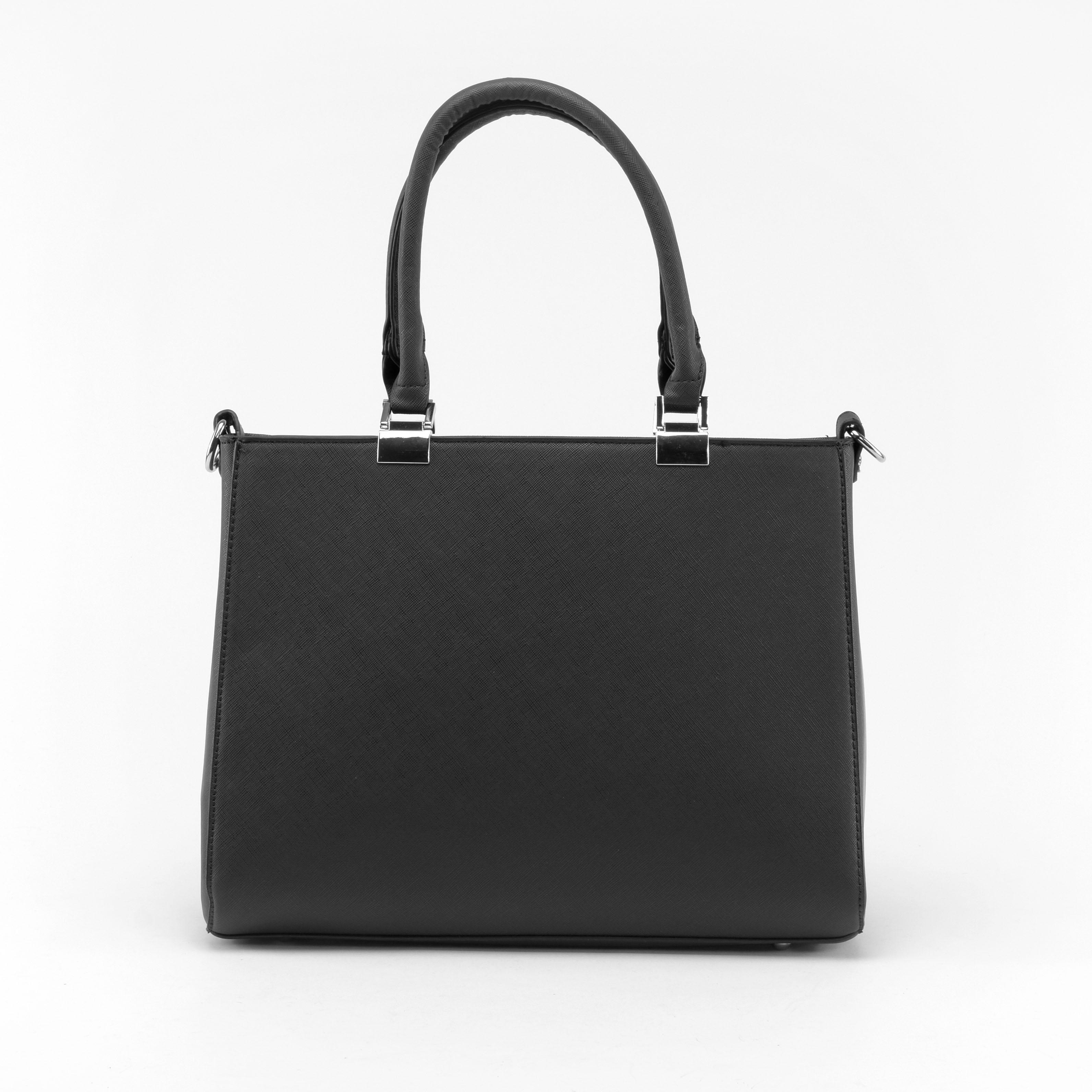 ffaf9fad19f8 Női Fekete Merev Műbőr Kézitáska - Kézitáskák - Táska webáruház - Minőségi  táskák mindenkinek