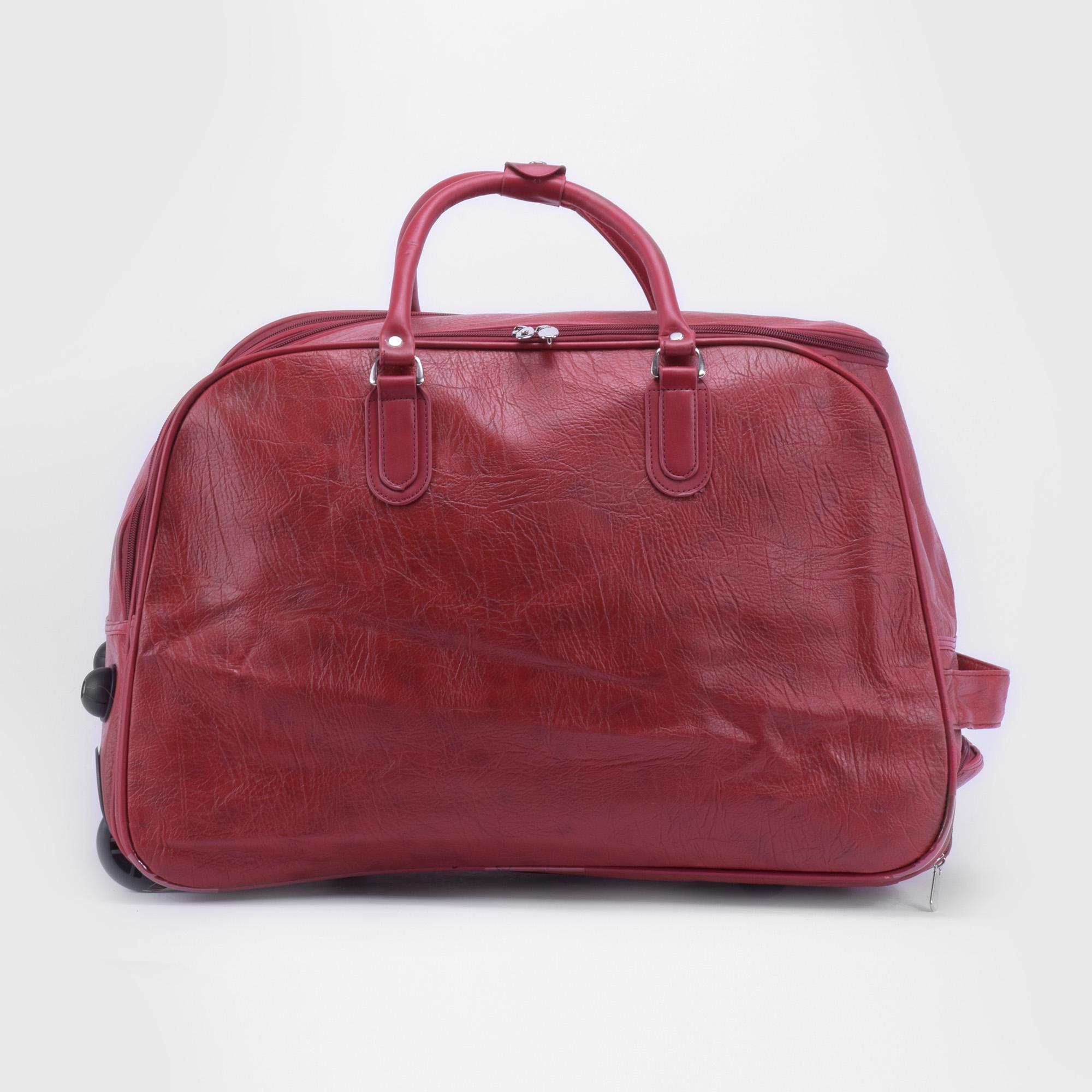 28f805cb33ad Közepes méretű piros műbőr gurulós utazótáska - KÖZEPES MÉRETŰ UTAZÓTÁSKA -  Táska webáruház - Minőségi táskák mindenkinek