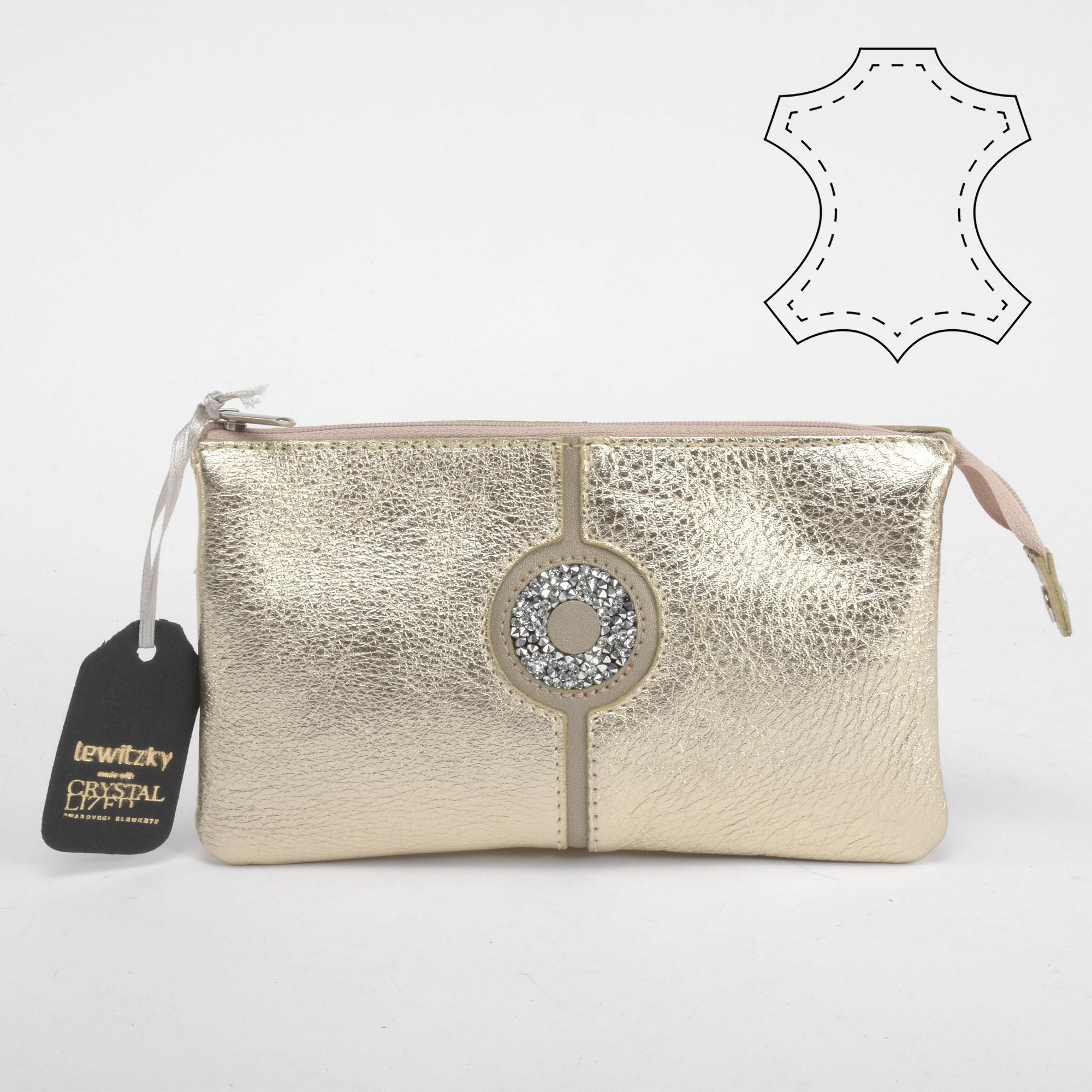 c774feeafd Lewitzky Swarovski köves arany színű bőr pénztárca - NŐI PÉNZTÁRCÁK - Táska  webáruház - Minőségi táskák mindenkinek