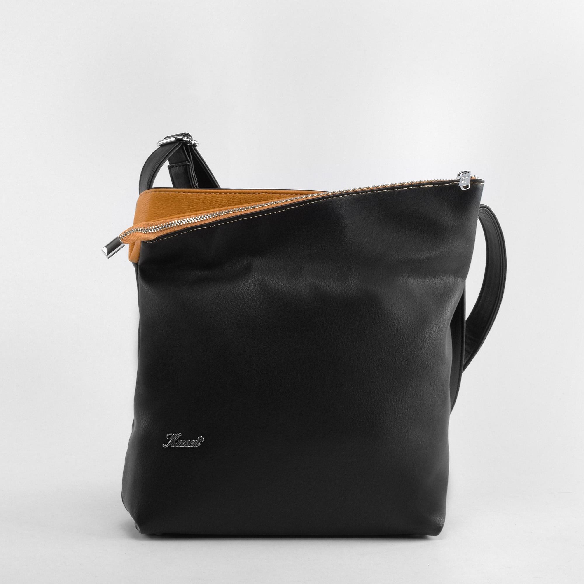 f101f0bc20 Karen Fekete-Sárga Rostbőr Válltáska - Válltáskák - Táska webáruház -  Minőségi táskák mindenkinek