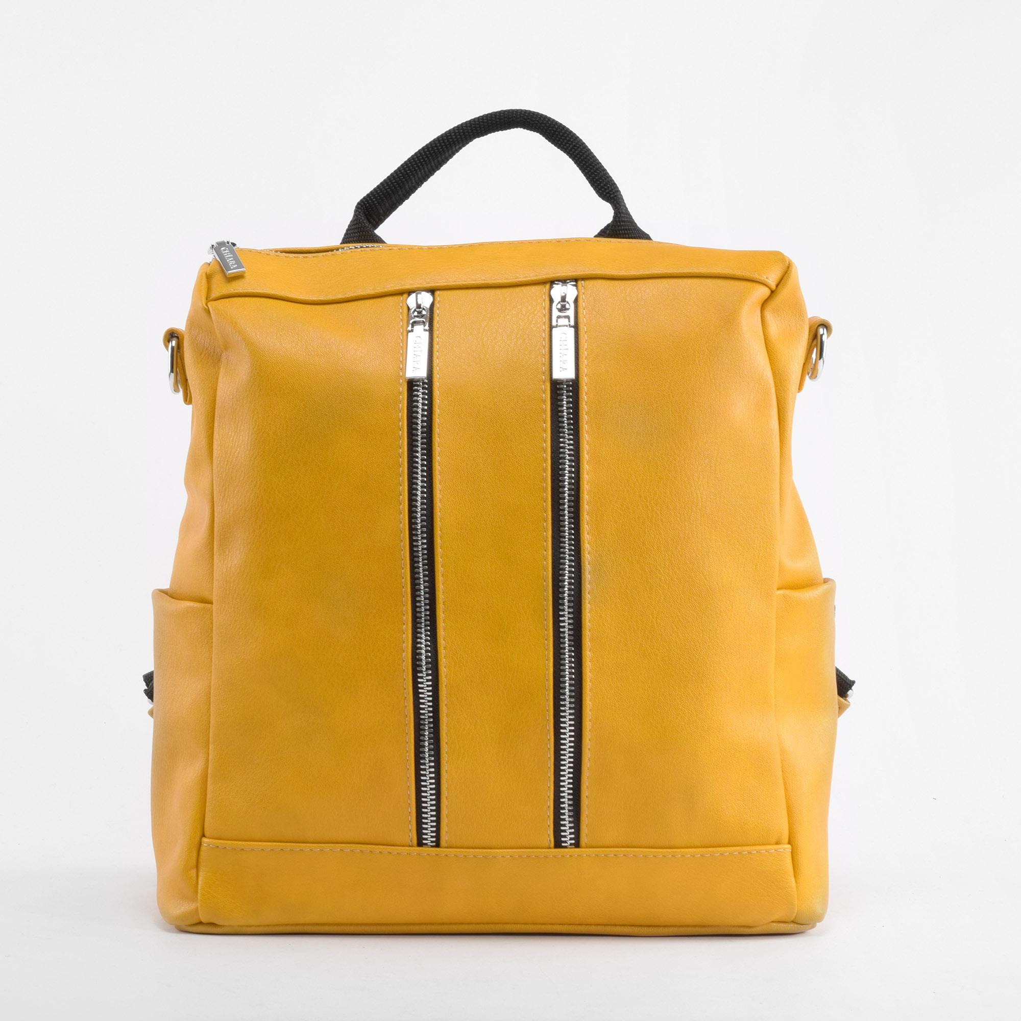 b77fd91ba7 Karen Chiara Női Mustársárga Rostbőr Hátizsák - Női divat hátizsákok - Táska  webáruház - Minőségi táskák mindenkinek