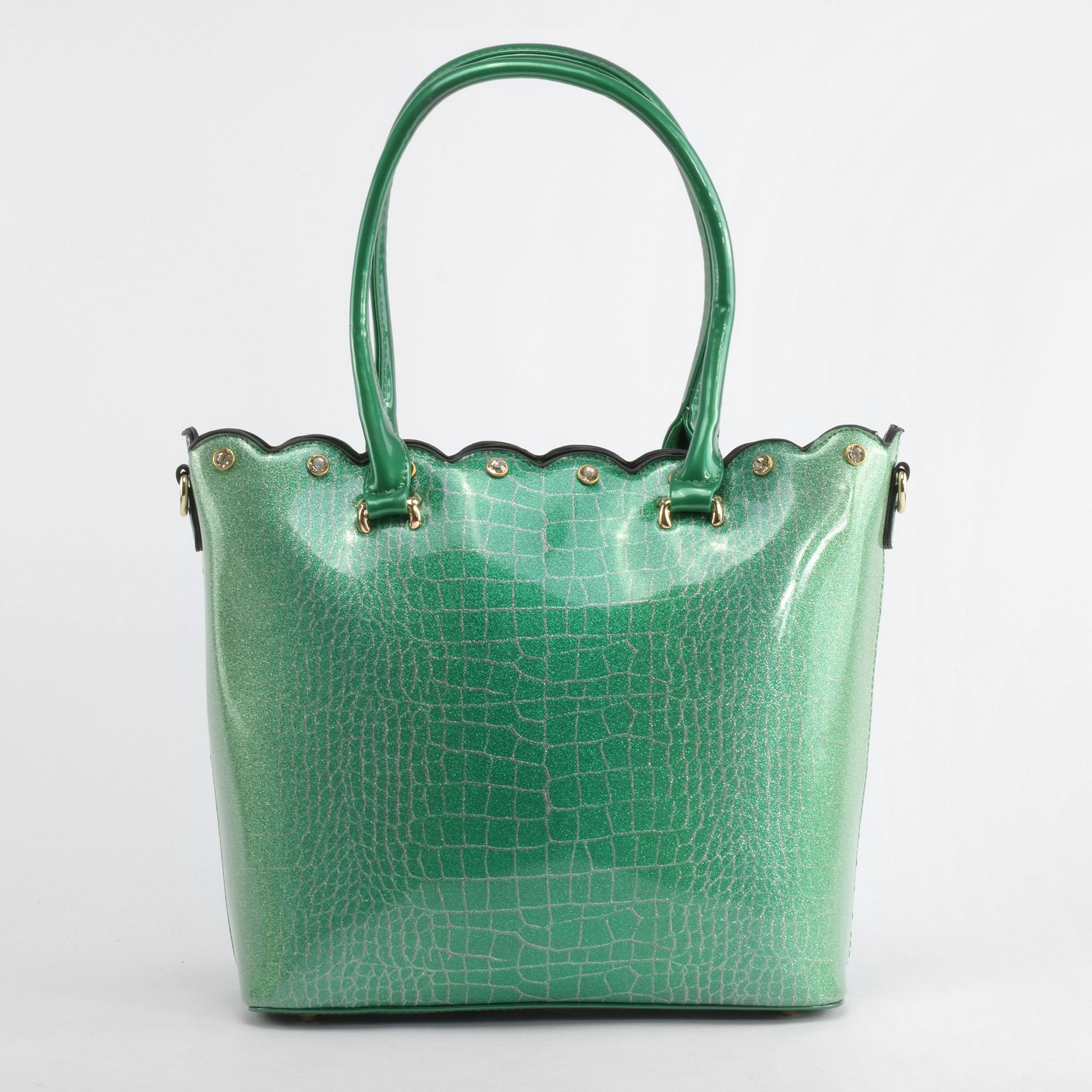 0feee0e8fdd0 Krokodilbőr mintás Zöld színű Szintetikus kézitáska - Kézitáskák - Táska  webáruház - Minőségi táskák mindenkinek