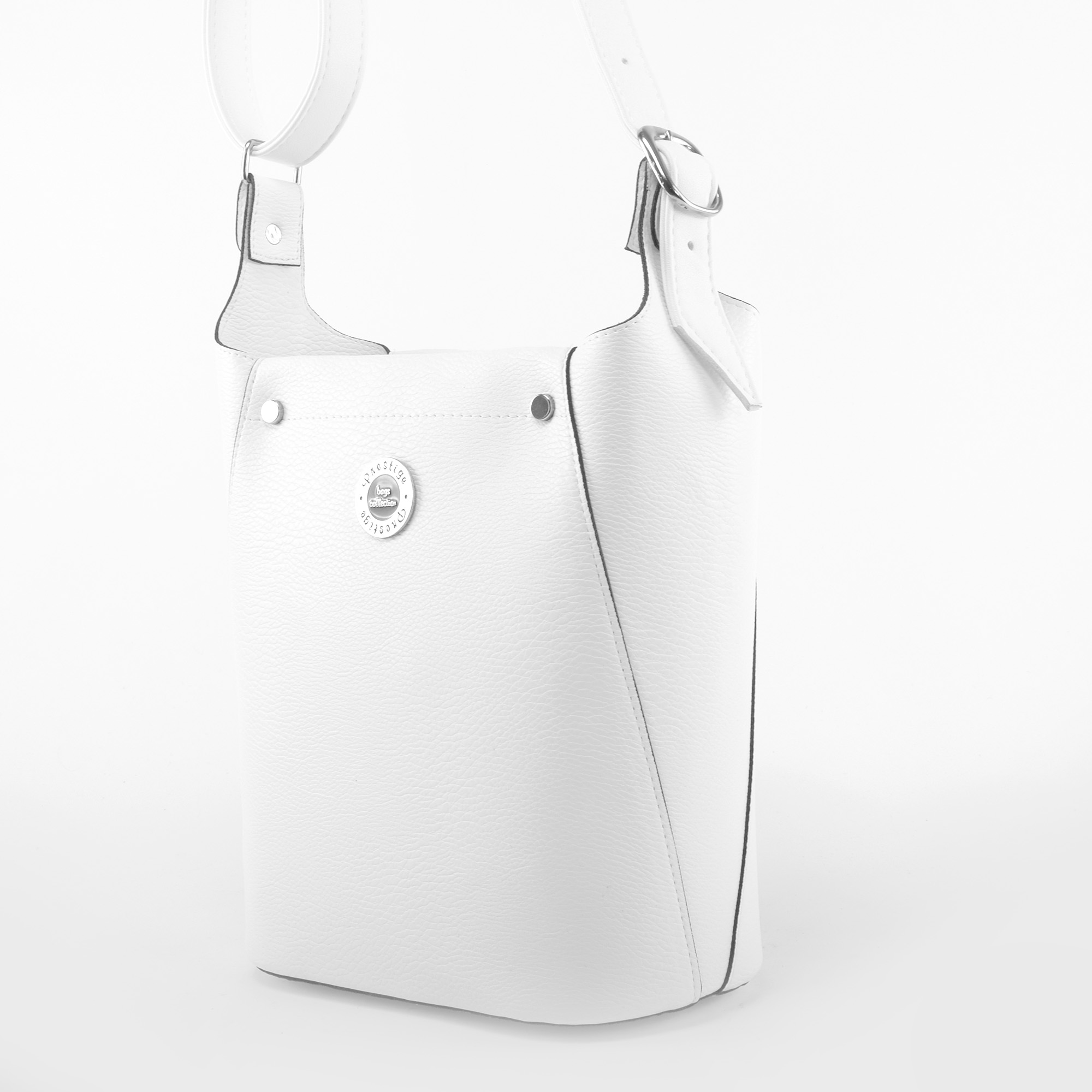 0c8701b44e21 Prestige Női Fehér Rostbőr Válltáska - Válltáskák - Táska webáruház -  Minőségi táskák mindenkinek