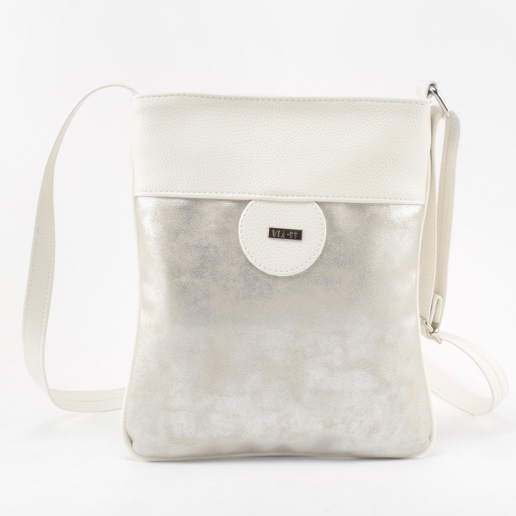 bc557d314e Via 55 Ezüst Női Rostbőr Válltáska - Oldaltáskák - Táska webáruház -  Minőségi táskák mindenkinek