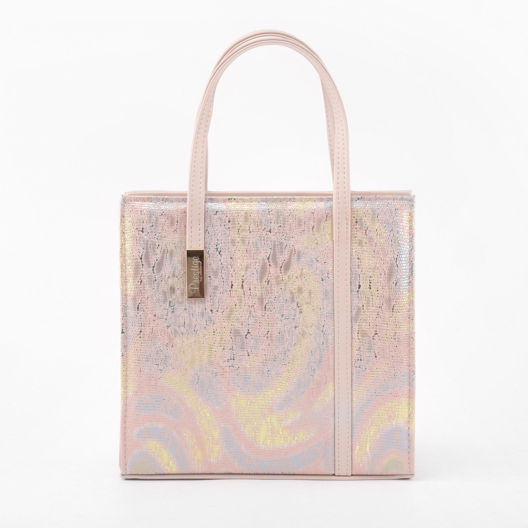 adfd17a5ae8e Prestige Női Rózsaszín és Színesen csillogó Rostbőr Kézitáska - Kézitáskák  - Táska webáruház - Minőségi táskák mindenkinek
