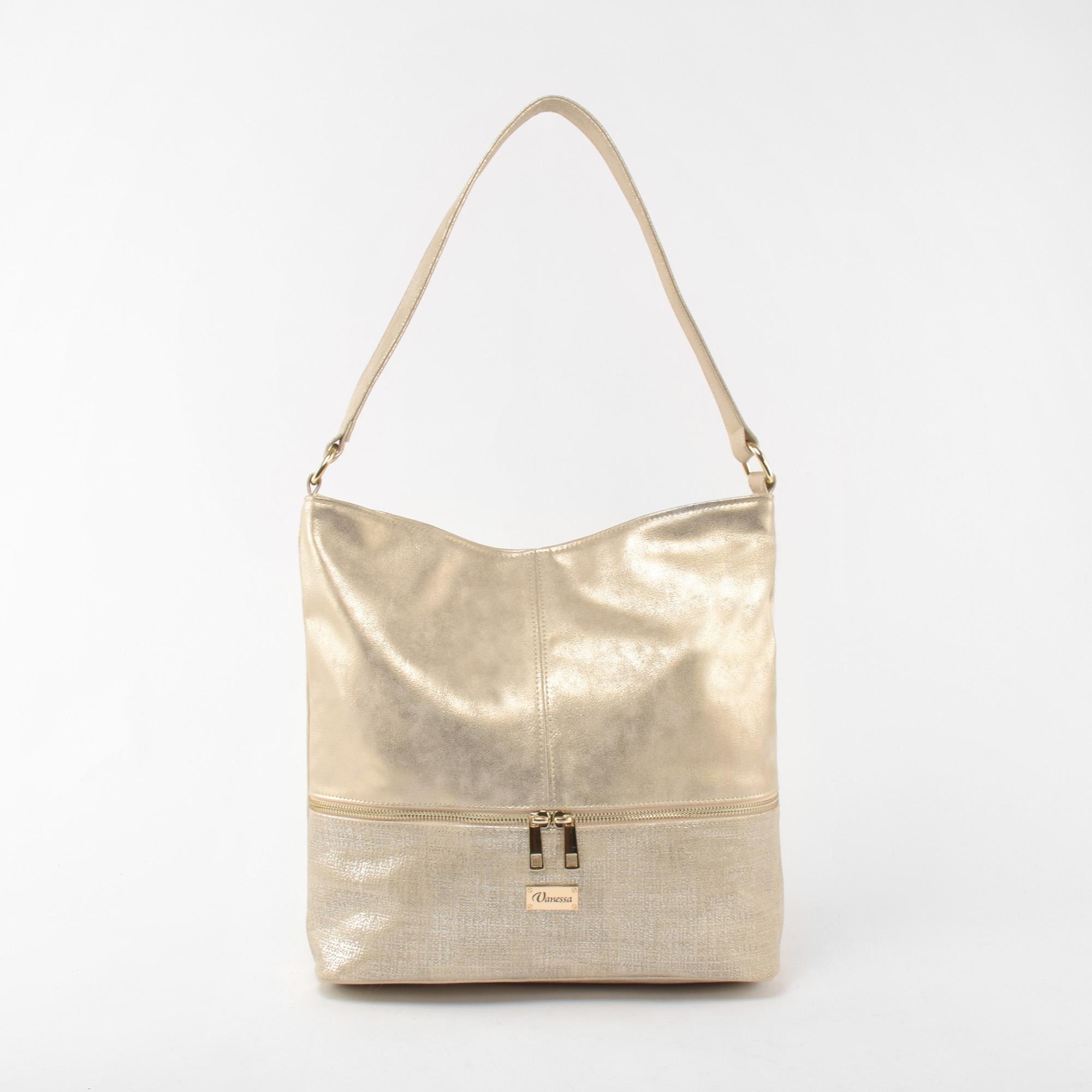 4fa3676cc6b0 Vanessa Női Arany Műbőr Válltáska - Válltáskák - Táska webáruház - Minőségi  táskák mindenkinek