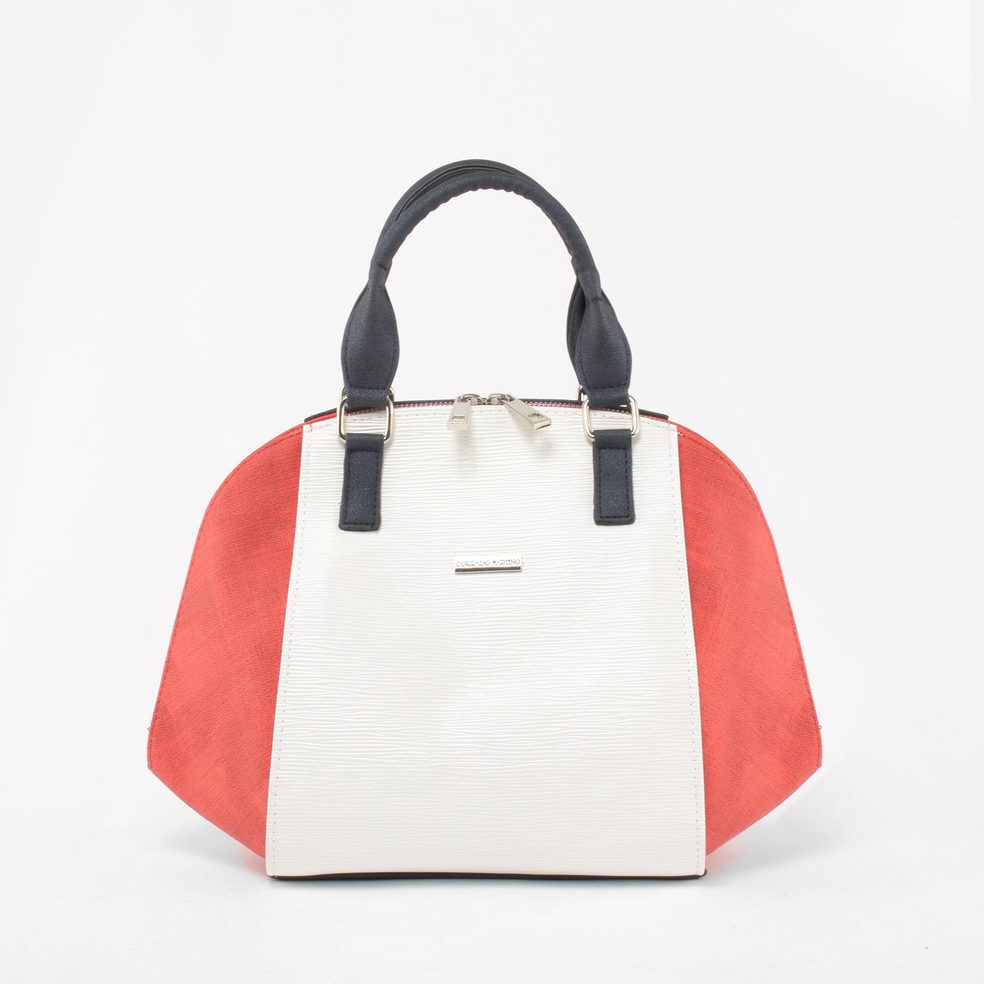 668706bd2a17 Corrado Martino Fehér-Piros Kis Kézitáska - Kézitáskák - Táska webáruház - Minőségi  táskák mindenkinek