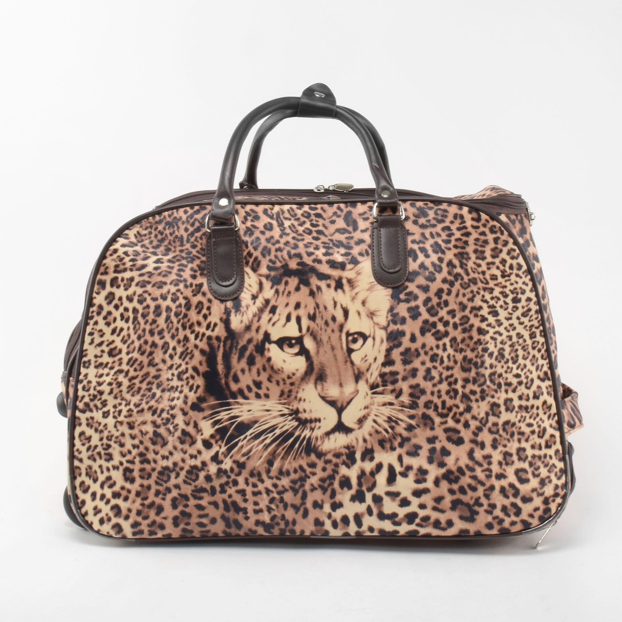 83fe5b5834ae Besty Közepes Méretű Leopárd mintás Gurulós Utazótáska - KÖZEPES MÉRETŰ  UTAZÓTÁSKA - Táska webáruház - Minőségi táskák mindenkinek